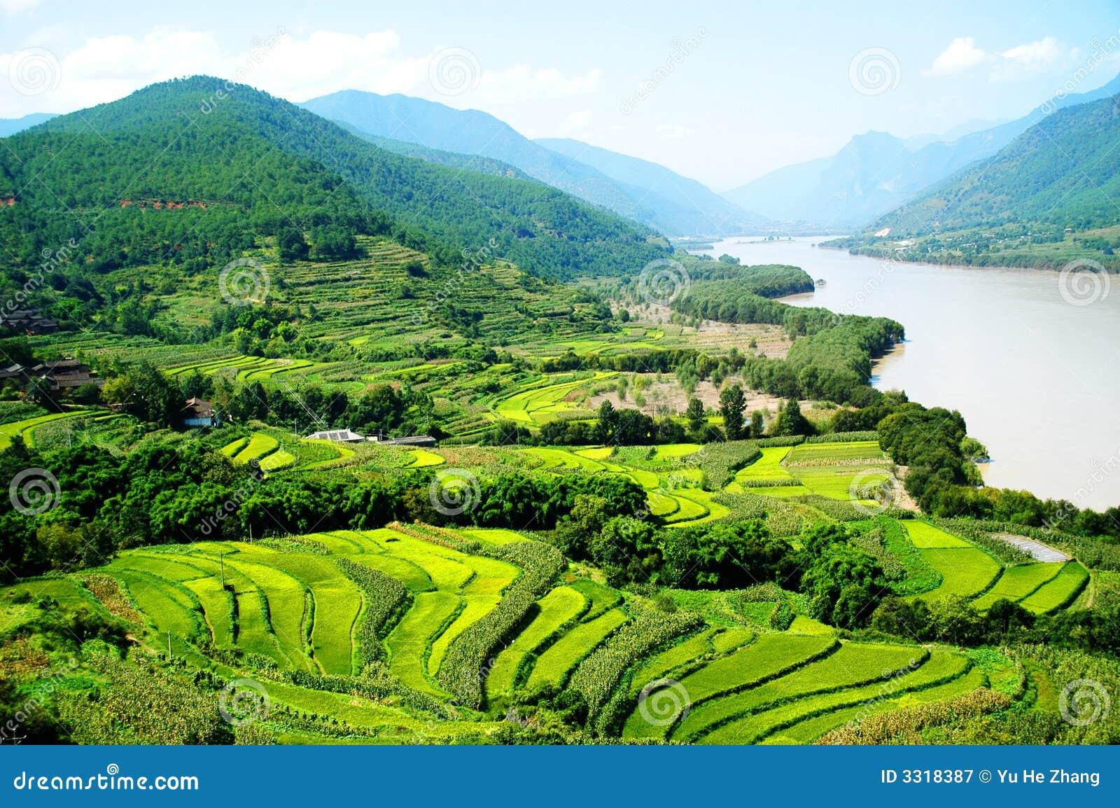 De 1st Draai van Rivier Yangtze