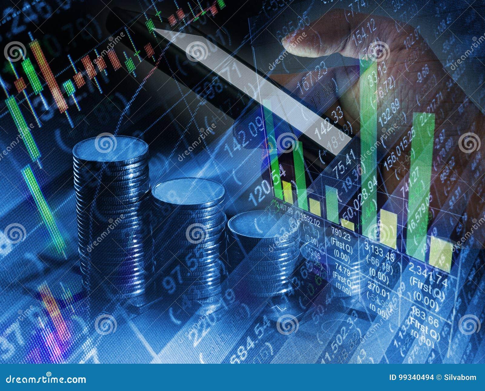 De ação do mercado de valores da troca comércio financeiro do móbil em linha, bu do Internet
