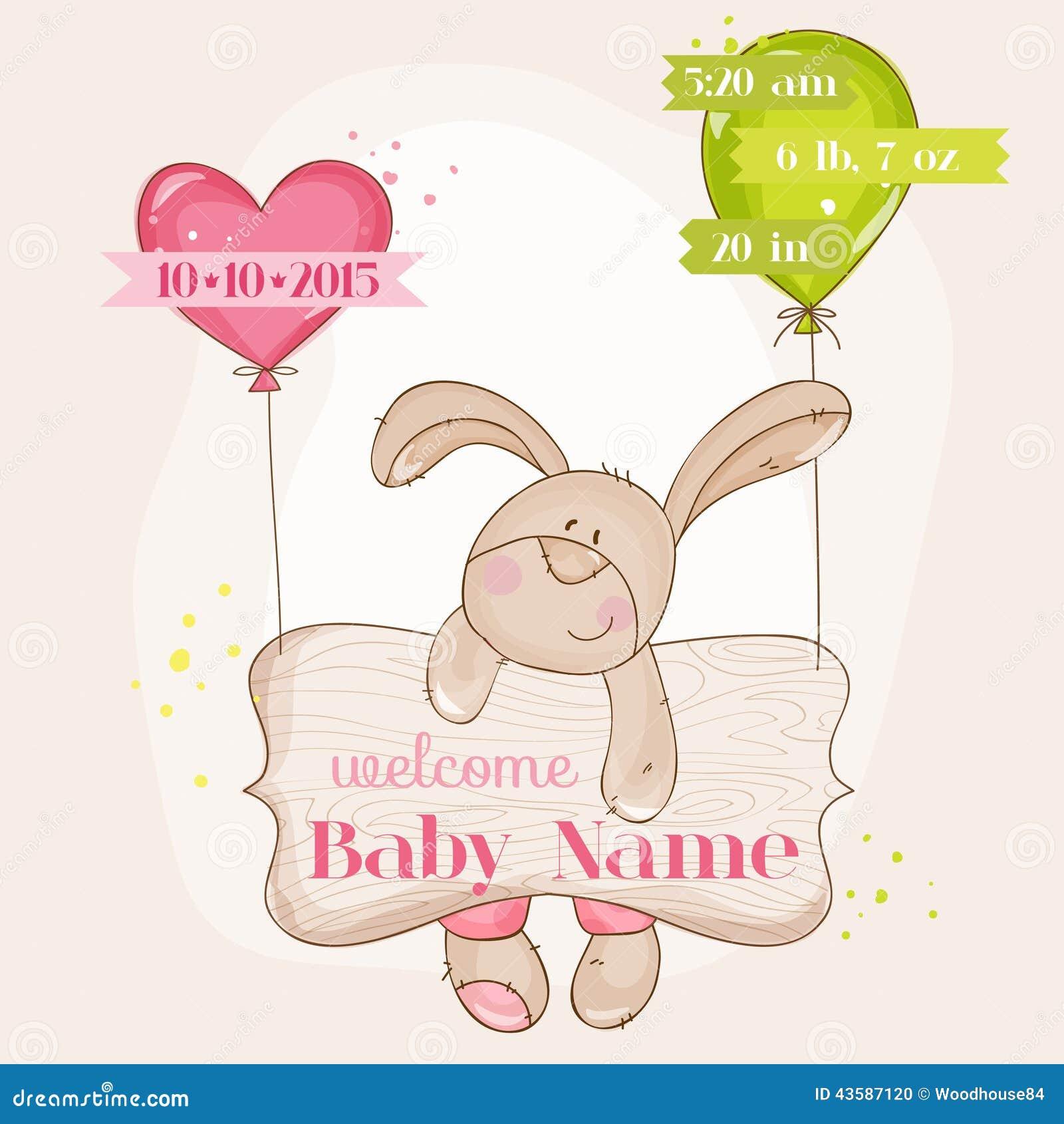 De Aankomstkaart van het babymeisje