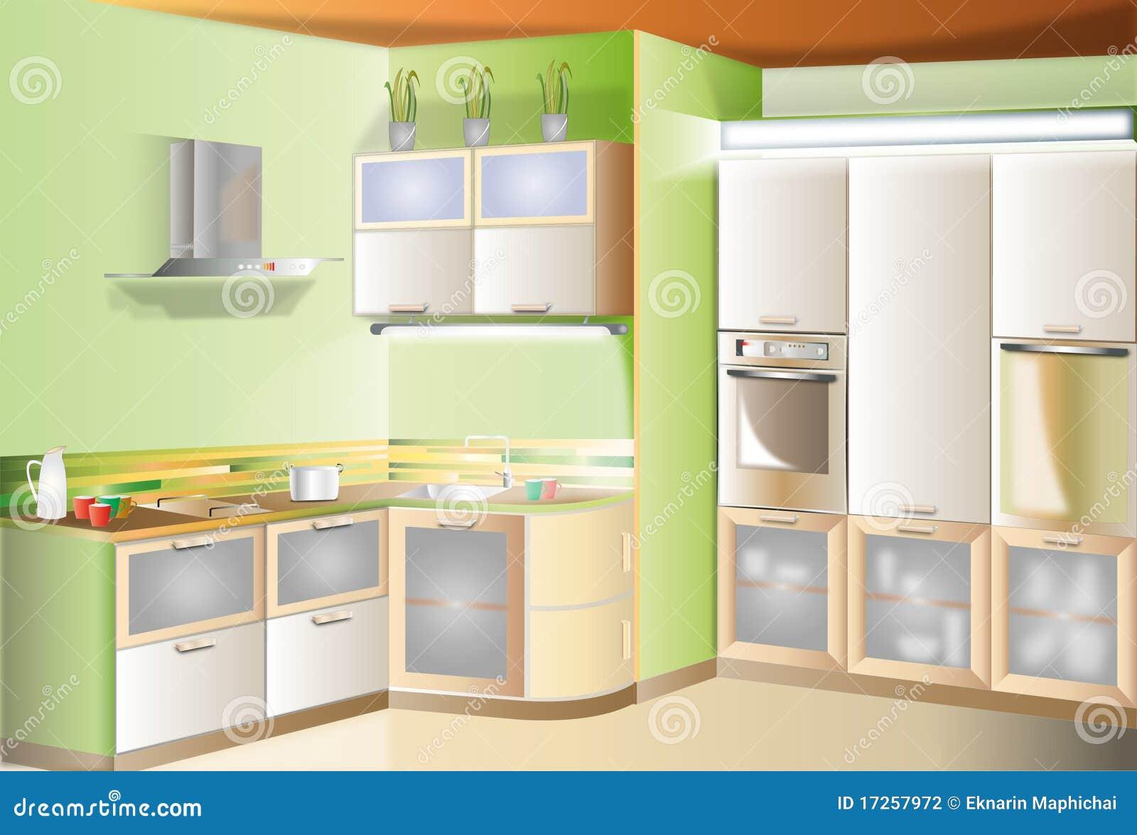 De aanrakings kleine ruimte van de keuken stock illustratie afbeelding 17257972 - Outs kleine ruimte ...
