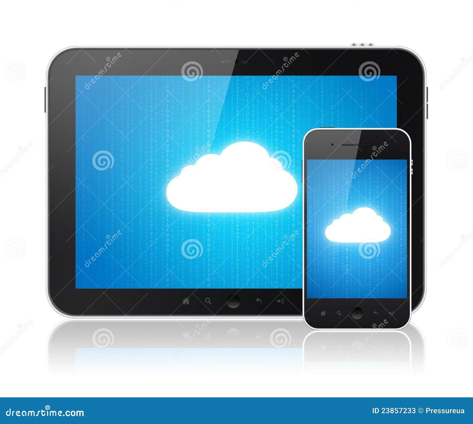 De aansluting van de gegevensverwerking van de wolk op moderne apparaten stock foto 39 s - Moderne apparaten ...