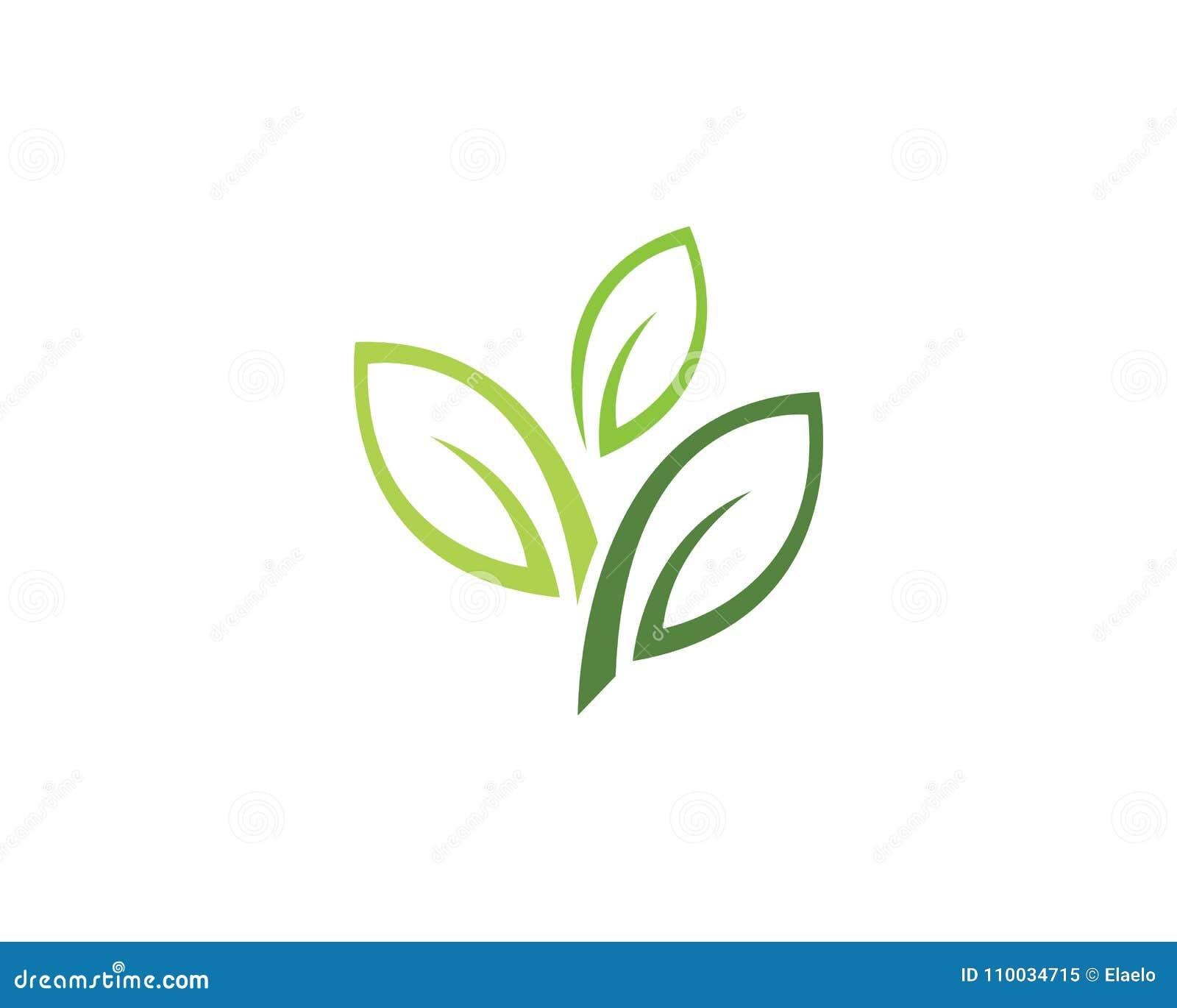 De aard Logo Template van de bladecologie
