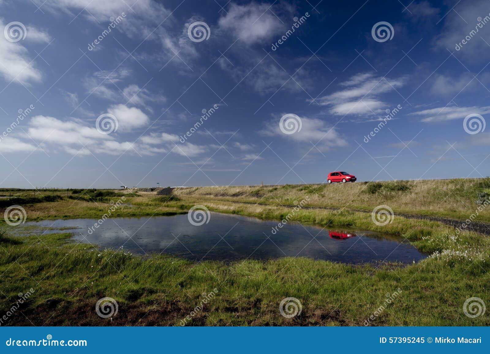 De aard van IJsland en landschappen het reizen