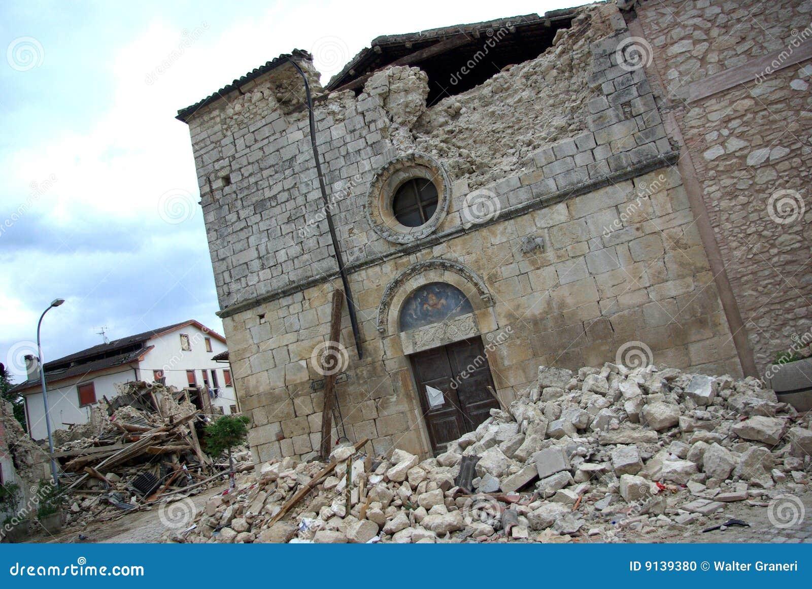 De aardbeving van Italië