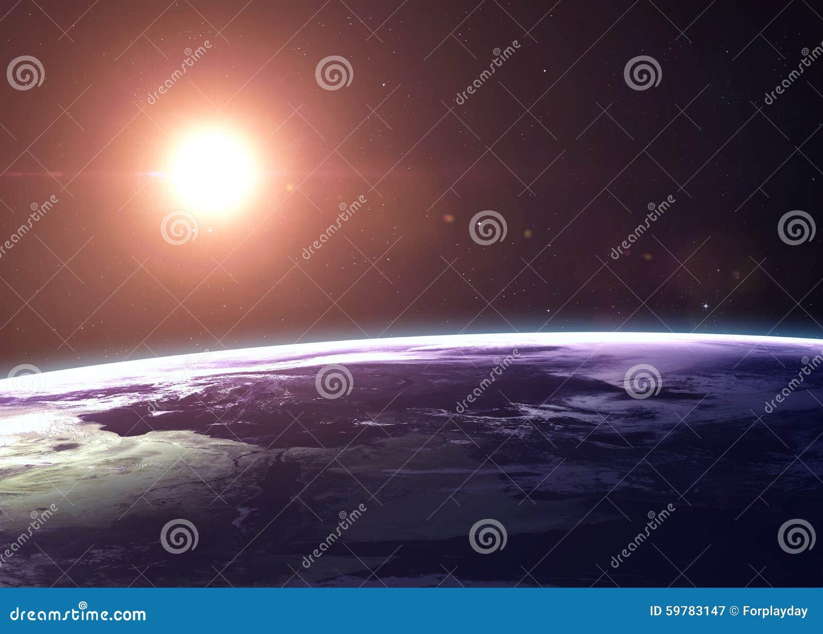 De Aarde schoot van het ruimte alle tonen zij schoonheid