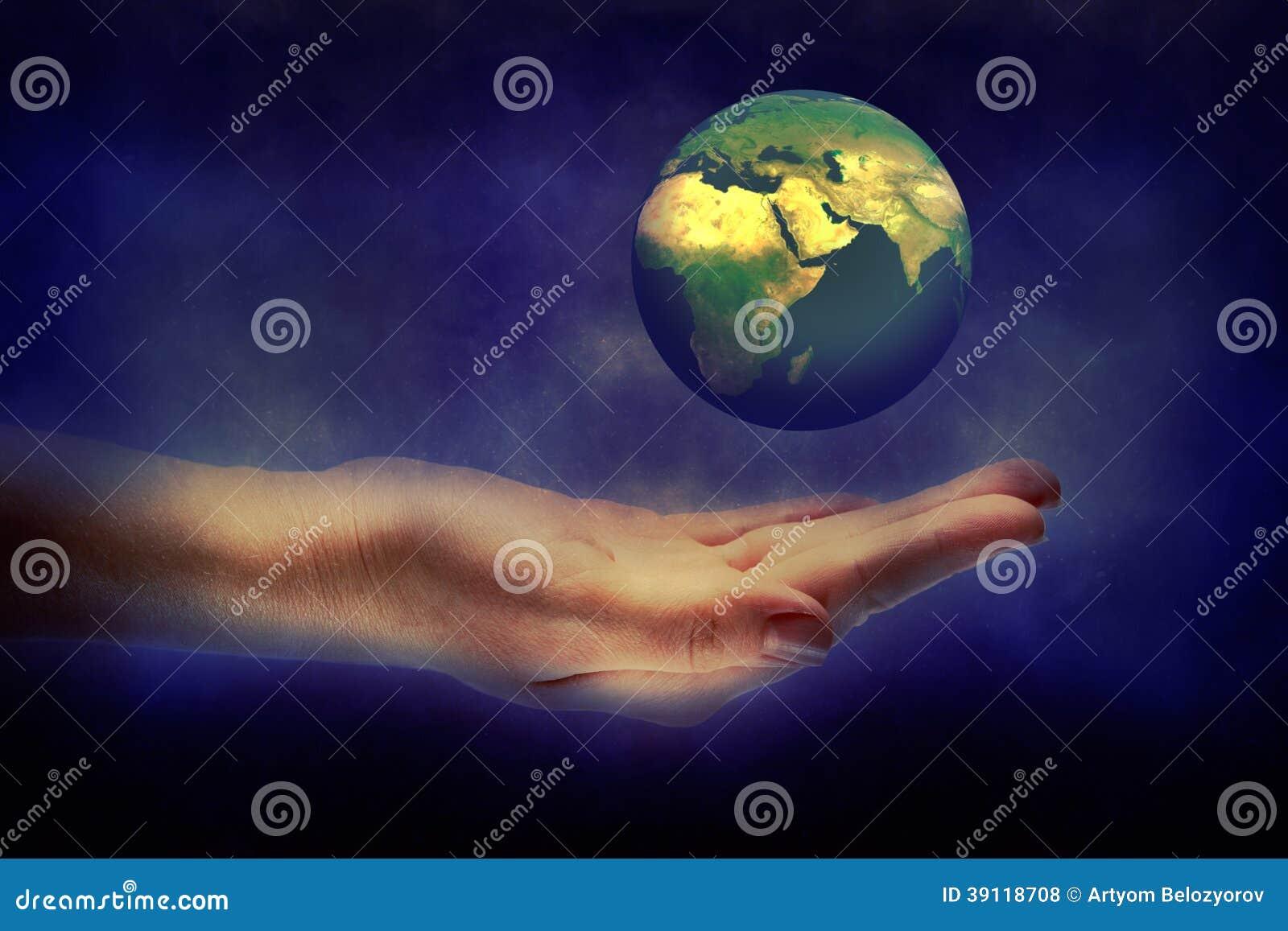 De Aarde van de handholding