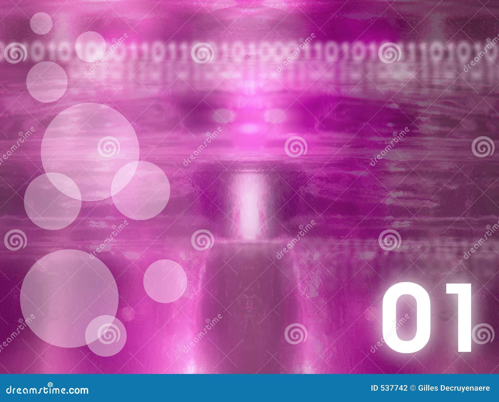 De abstracte Achtergrond van het Glas - Magenta