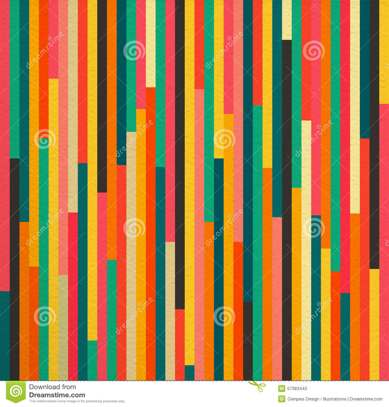 De abstracte achtergrond van het kleuren uitstekende retro naadloze patroon