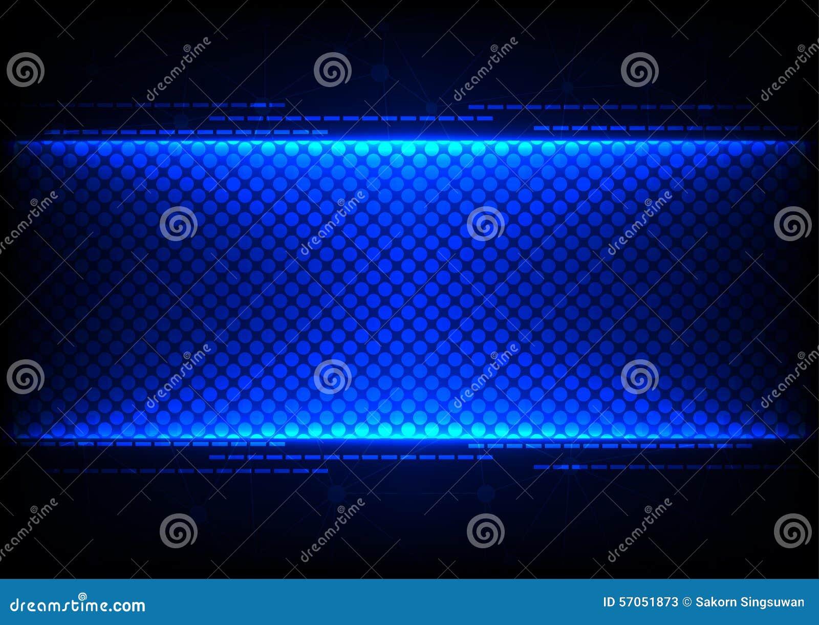 De abstracte achtergrond van het technologie blauwe conceptontwerp