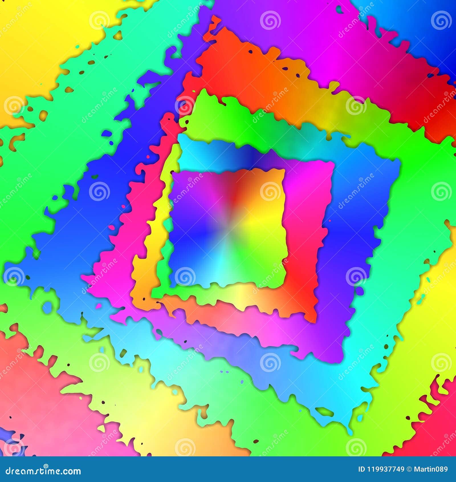 De abstracte achtergrond van regenboogkaders
