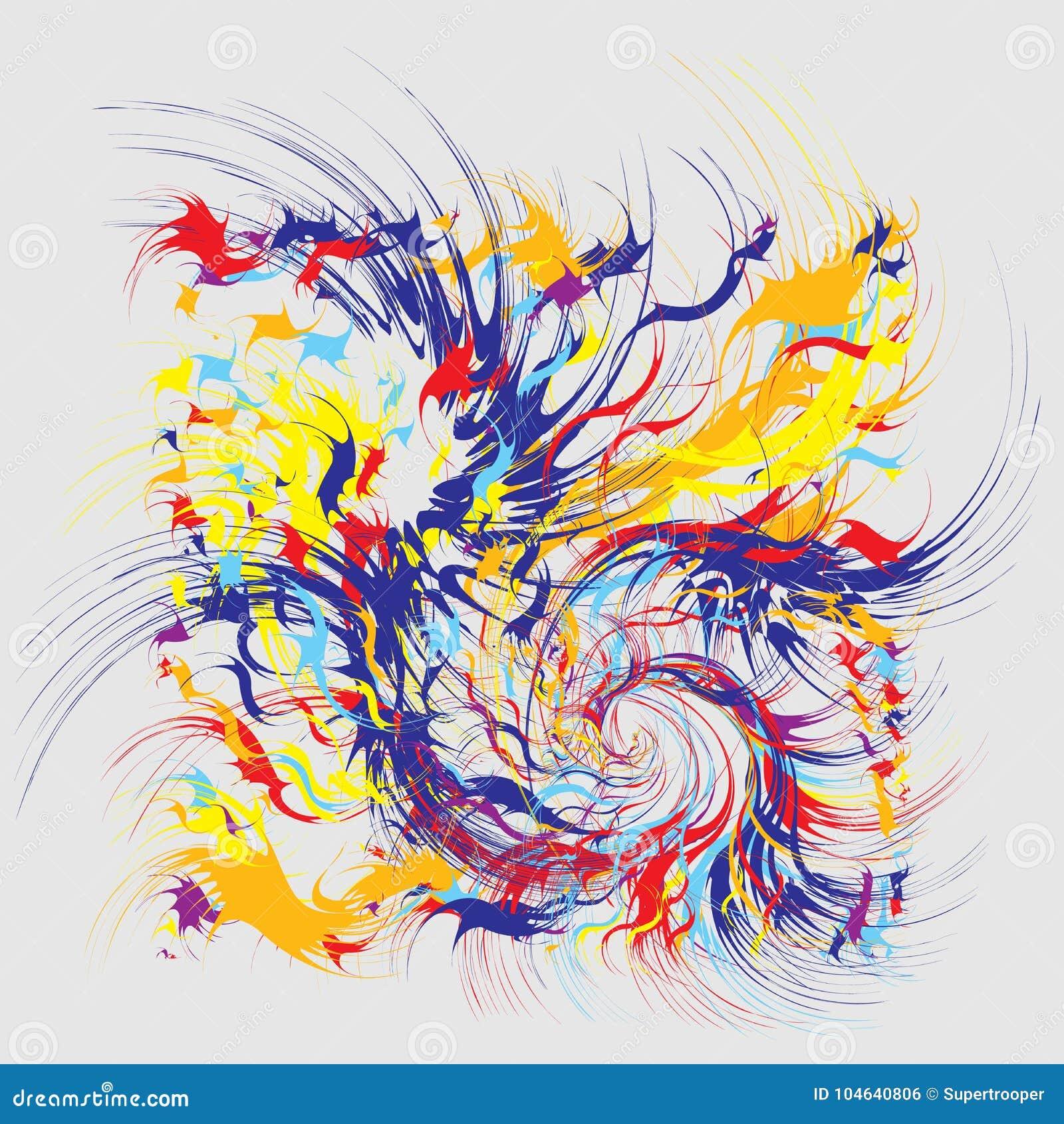 Download De Abstracte Achtergrond Van Verfplonsen Vector Illustratie - Illustratie bestaande uit spat, vlekken: 104640806