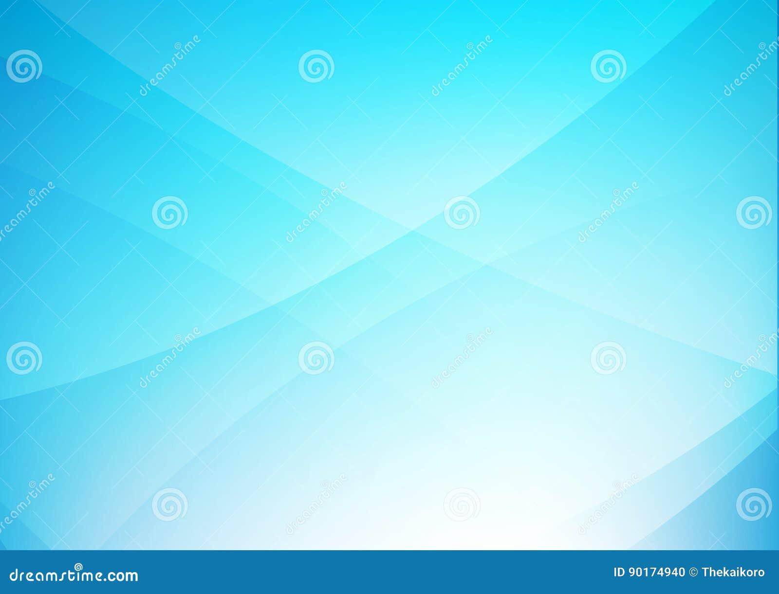 De abstracte blauwe schone achtergrond met eenvoudig krommeverlichting elemen