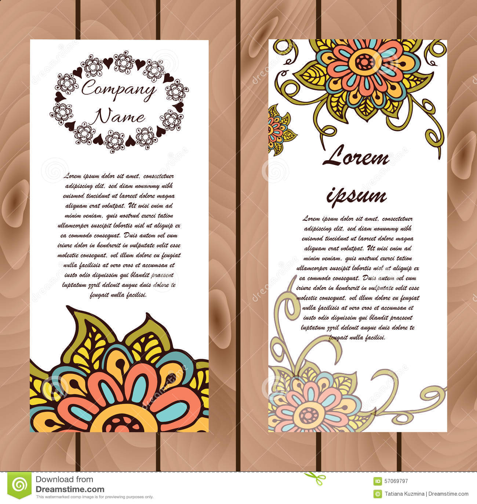 De abstracte bloemenkaart van henna Indische mehndi met tekst