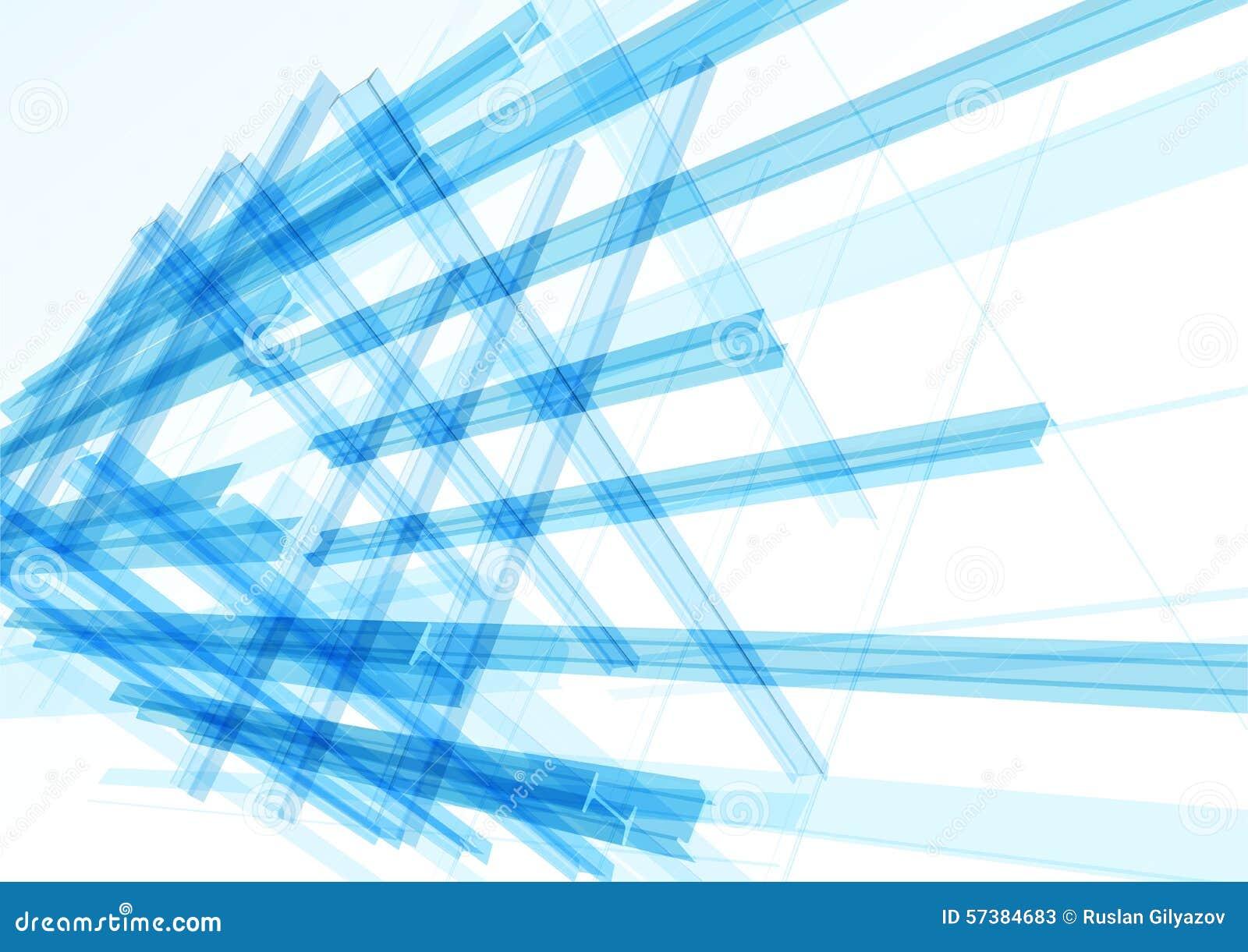 De abstracte bouw van de lijnen