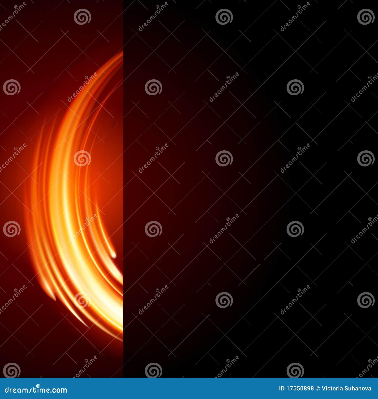 De abstracte brand van de brandwondvlam
