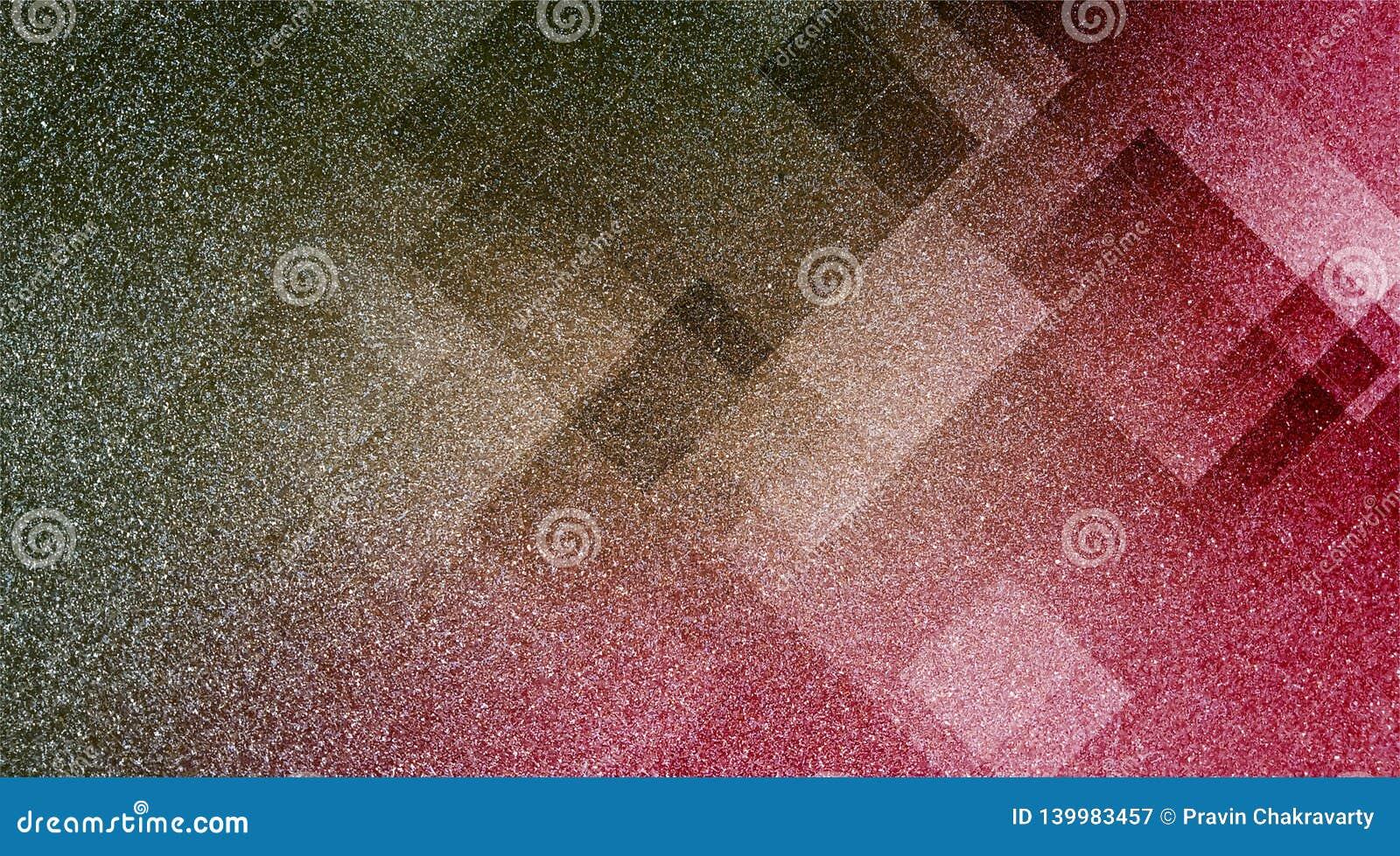 De abstracte bruine en roze achtergrond stelde gestreepte patroon en blokken in diagonale lijnen met uitstekende blauwe bruine en