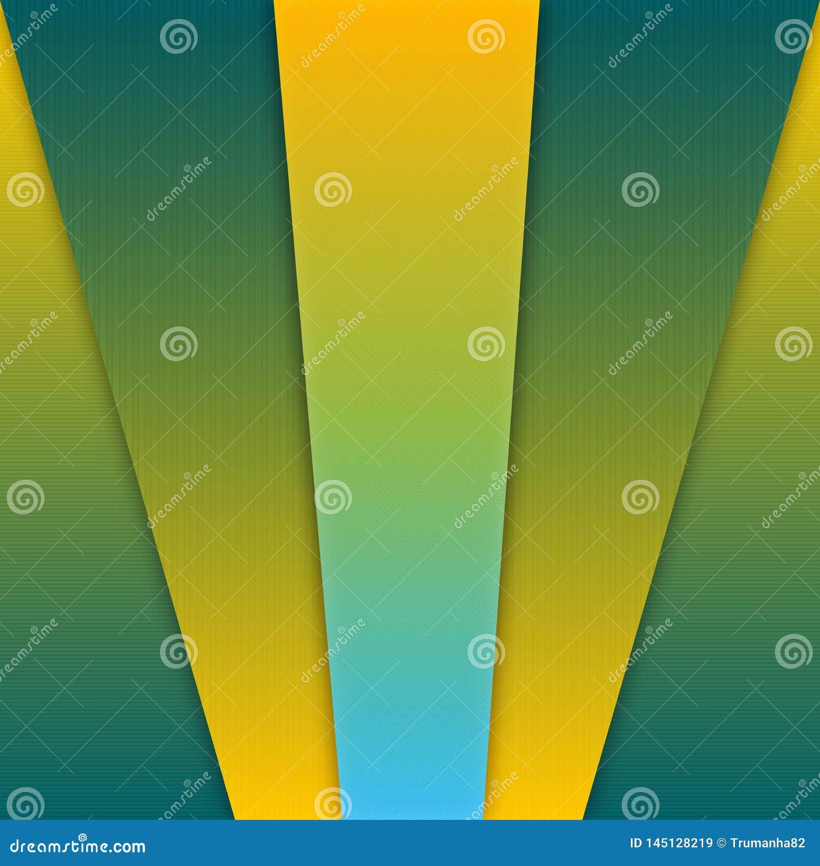 De abstracte Gele en Groene Achtergrond van de Gradiënt Geometrische Textuur