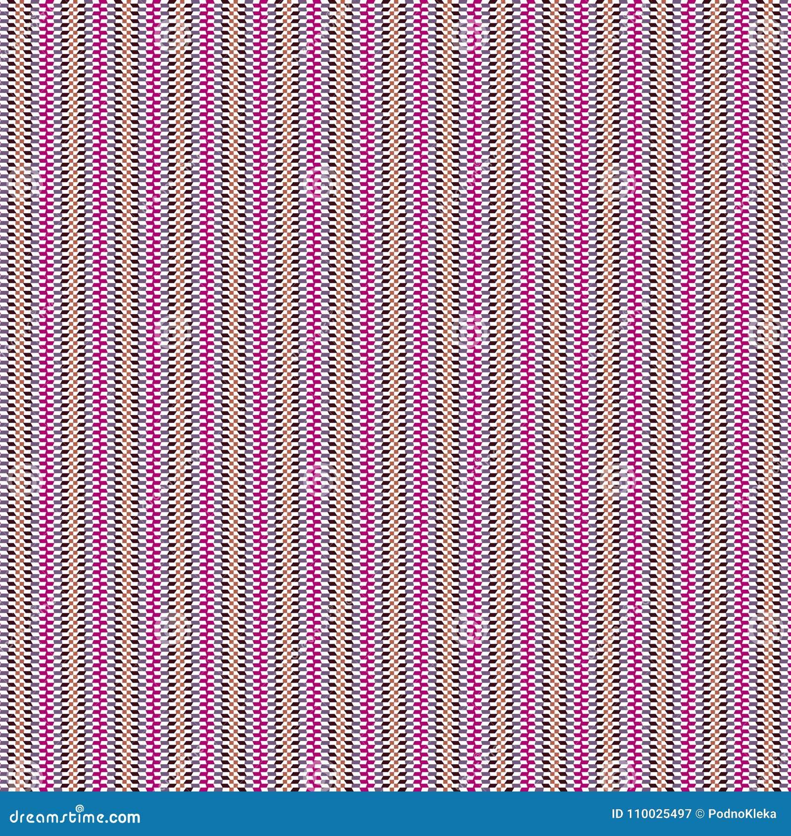 De abstracte Geruite Achtergrond van de het Patroonstof van Zig Zag van de Gekrabbelstreep Geometrische