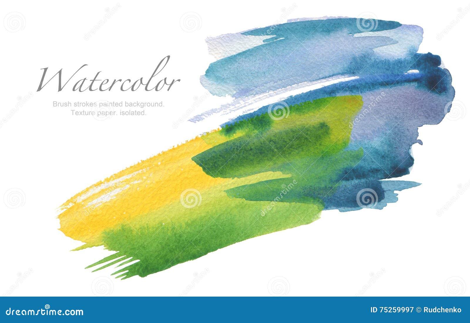De abstracte geschilderde achtergrond van de waterverfborstel slagen Textuurpa
