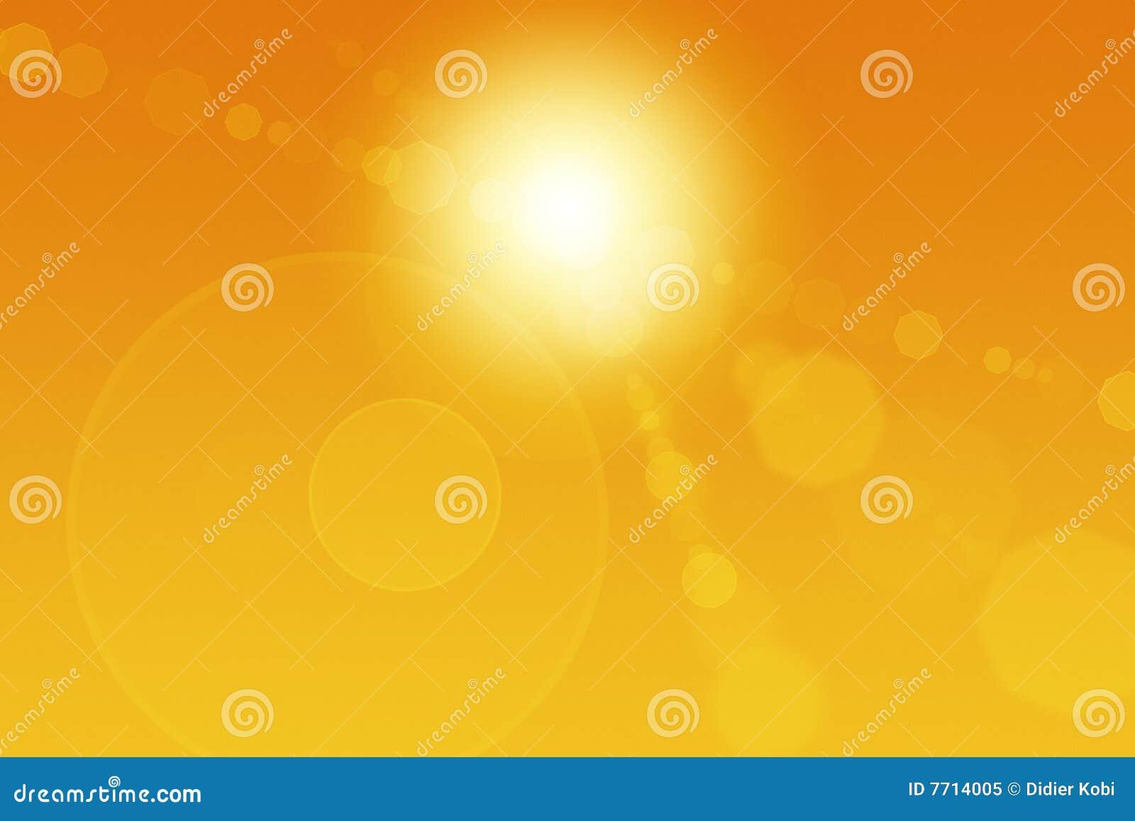 De abstracte Gloed van de Zon