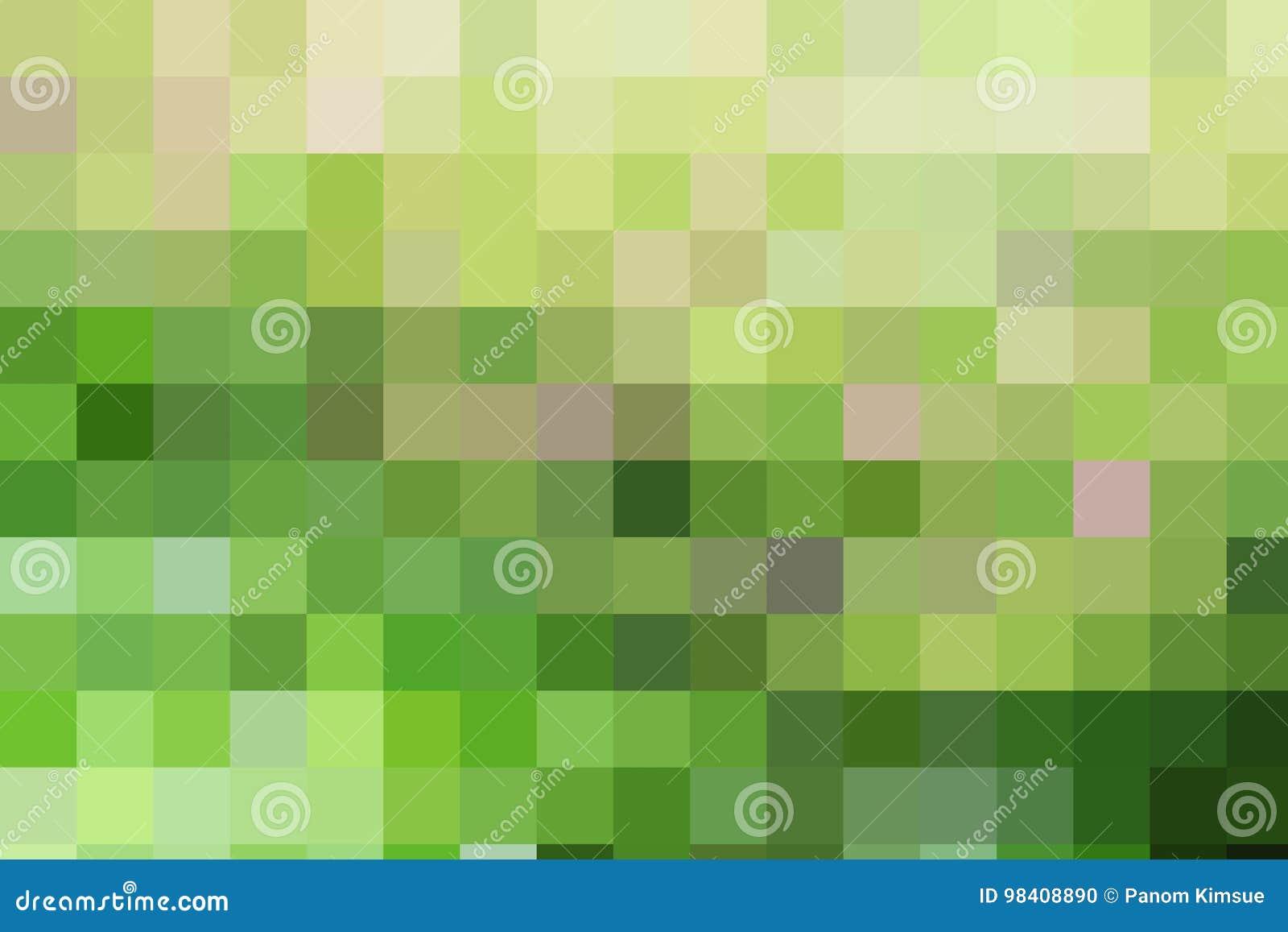 Groene Mozaiek Tegels : De abstracte groene gele bruine tegels van het kleuren geometrische