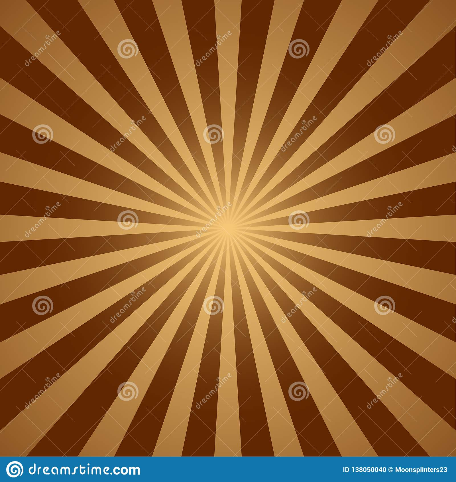 De abstracte lichtgele achtergrond van zonstralen Vector illustratie Eps 10