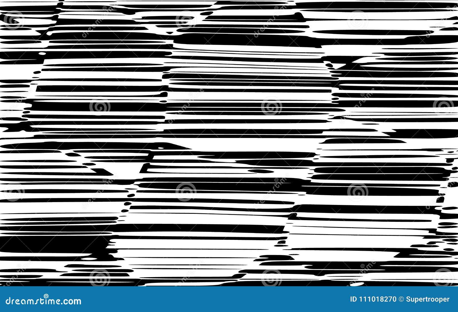 De abstracte Lijnen ontwerpen Zwart-witte Strepenvector