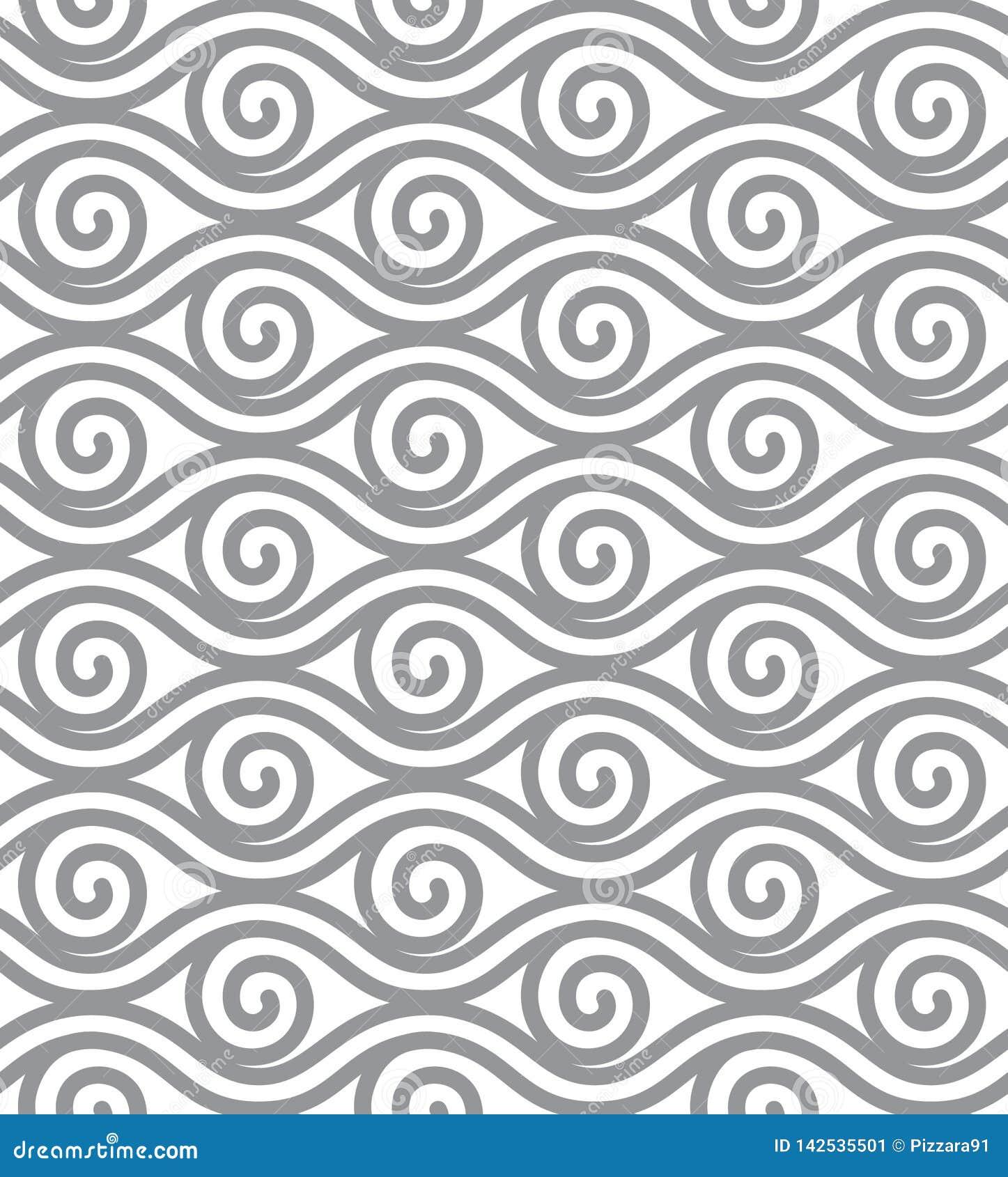 De abstracte lijnvector illustreert Elementen naadloos behang