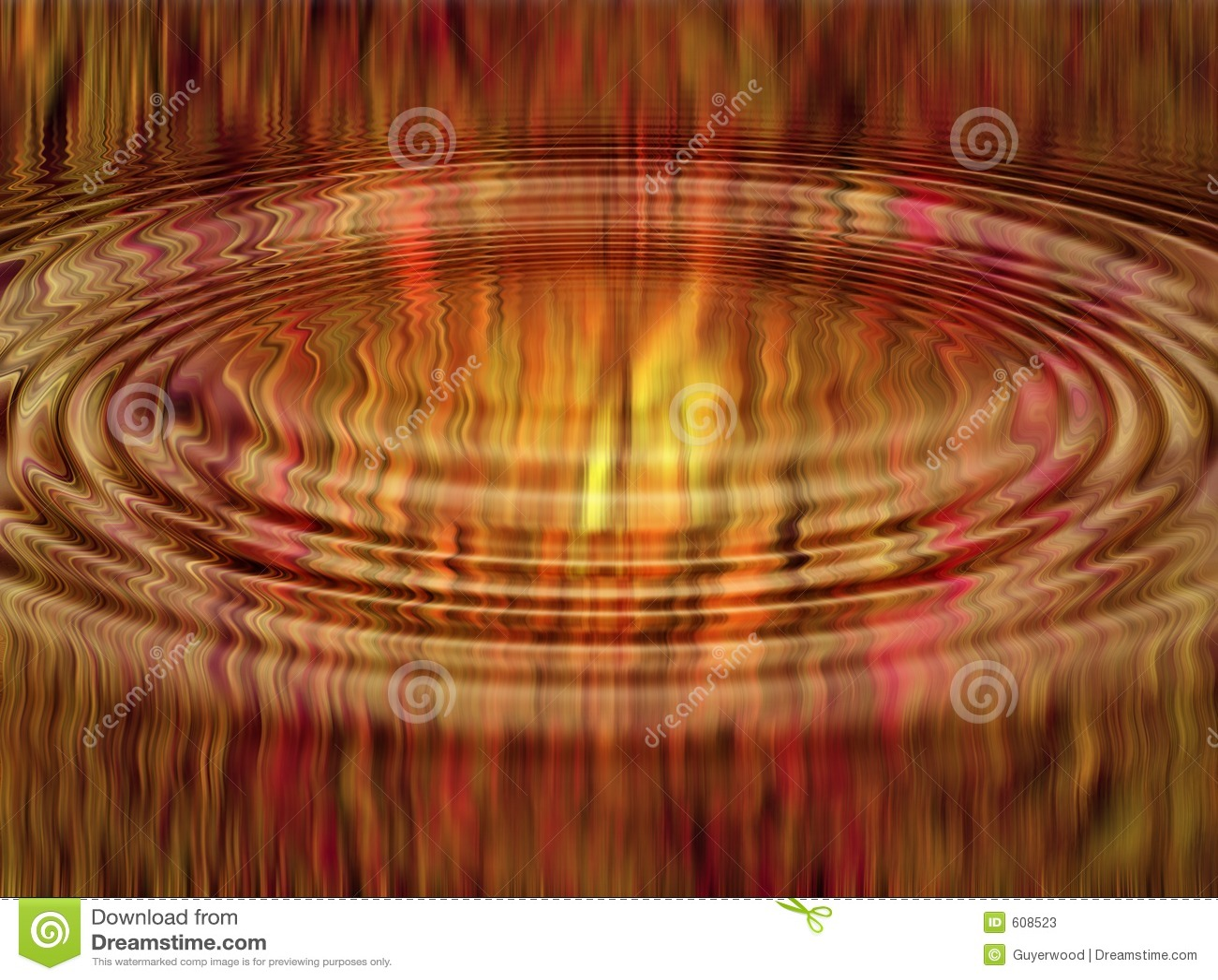 De abstracte vlammen van de rimpeling