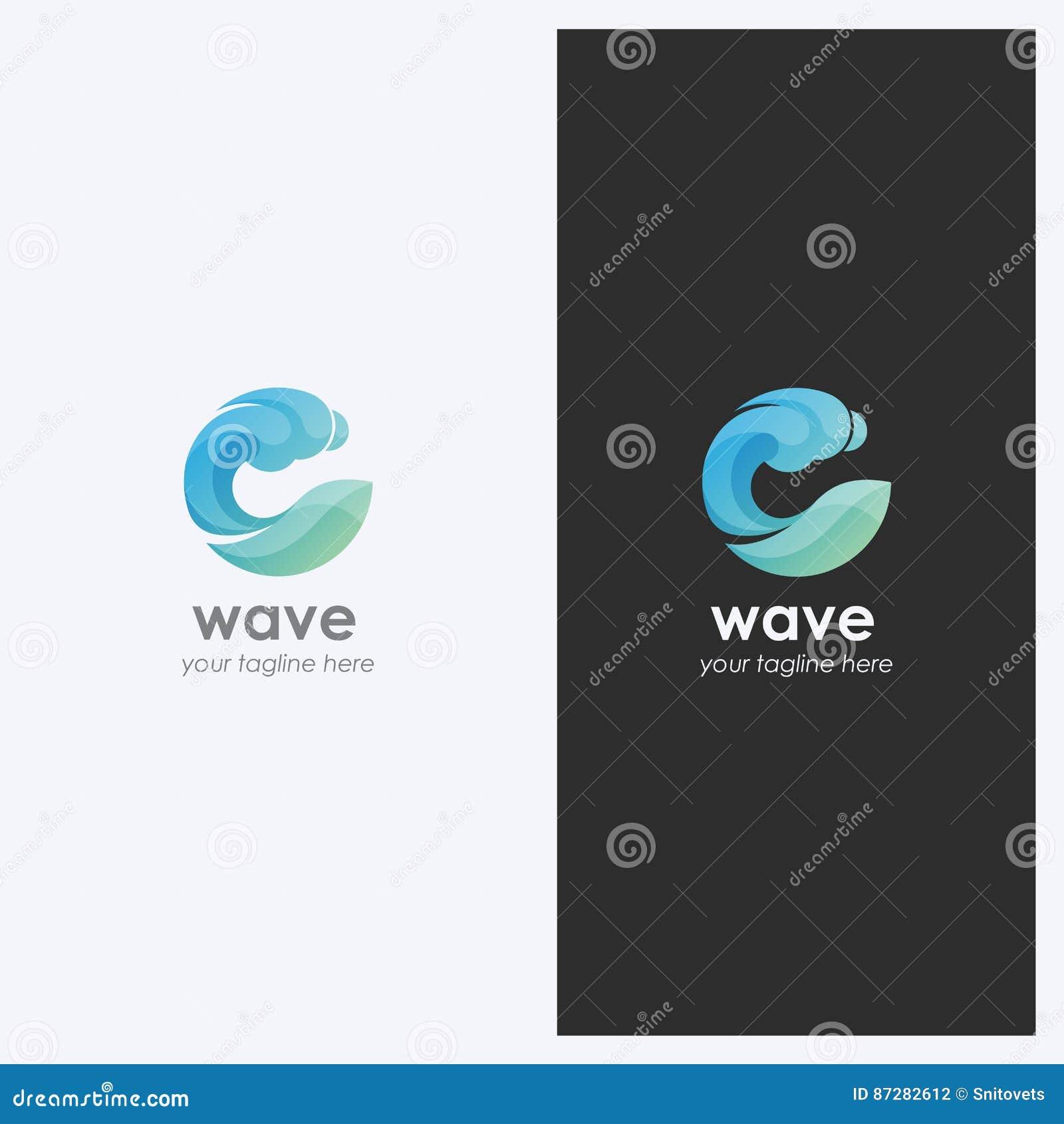 De abstracte Vorm Logo Design Template van de Watergolf Collectief Bedrijfsthema Schoonheidsmiddelen, het Concept van de Branding