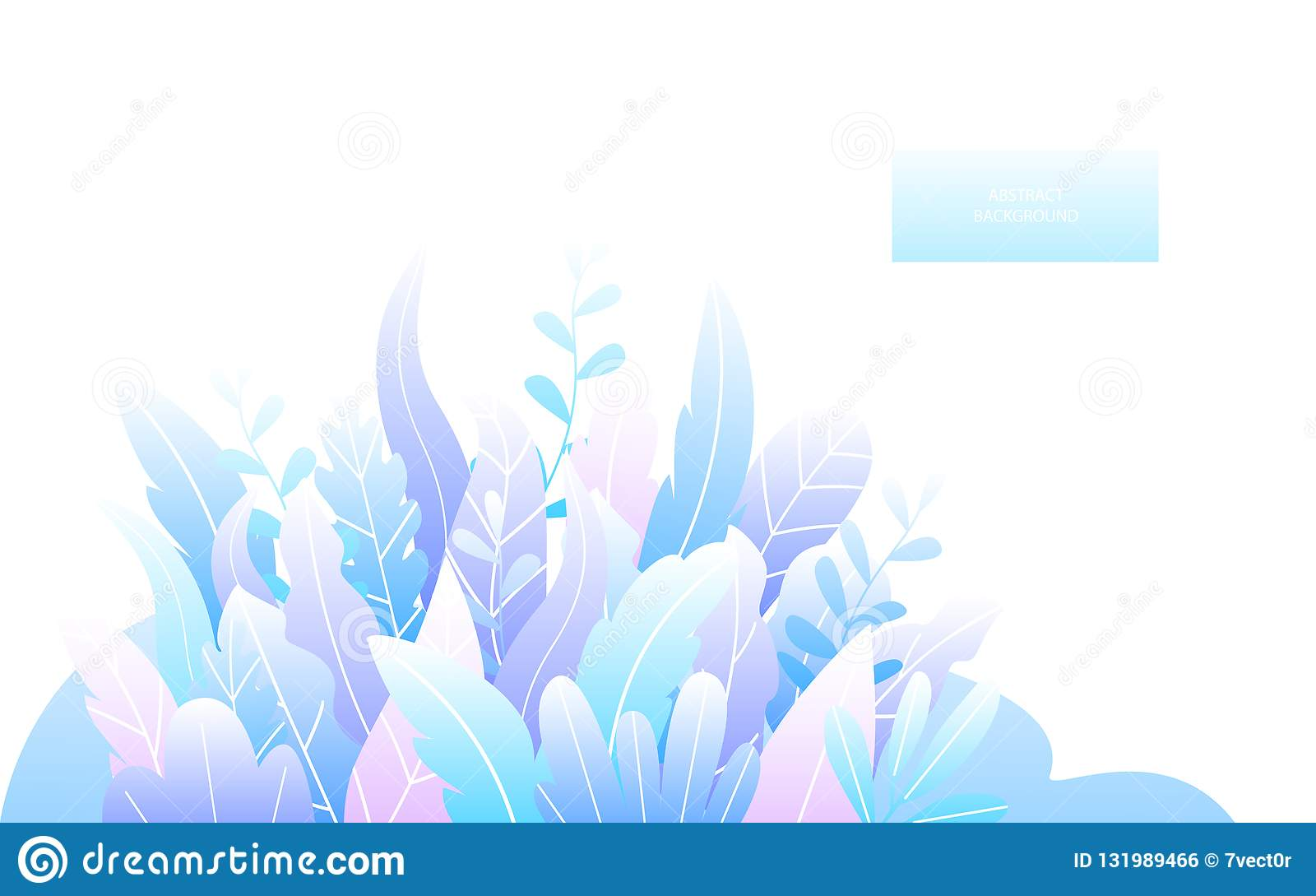 De abstracte zachte blauwe gradiënt kleurde de textuur van bladerentakjes