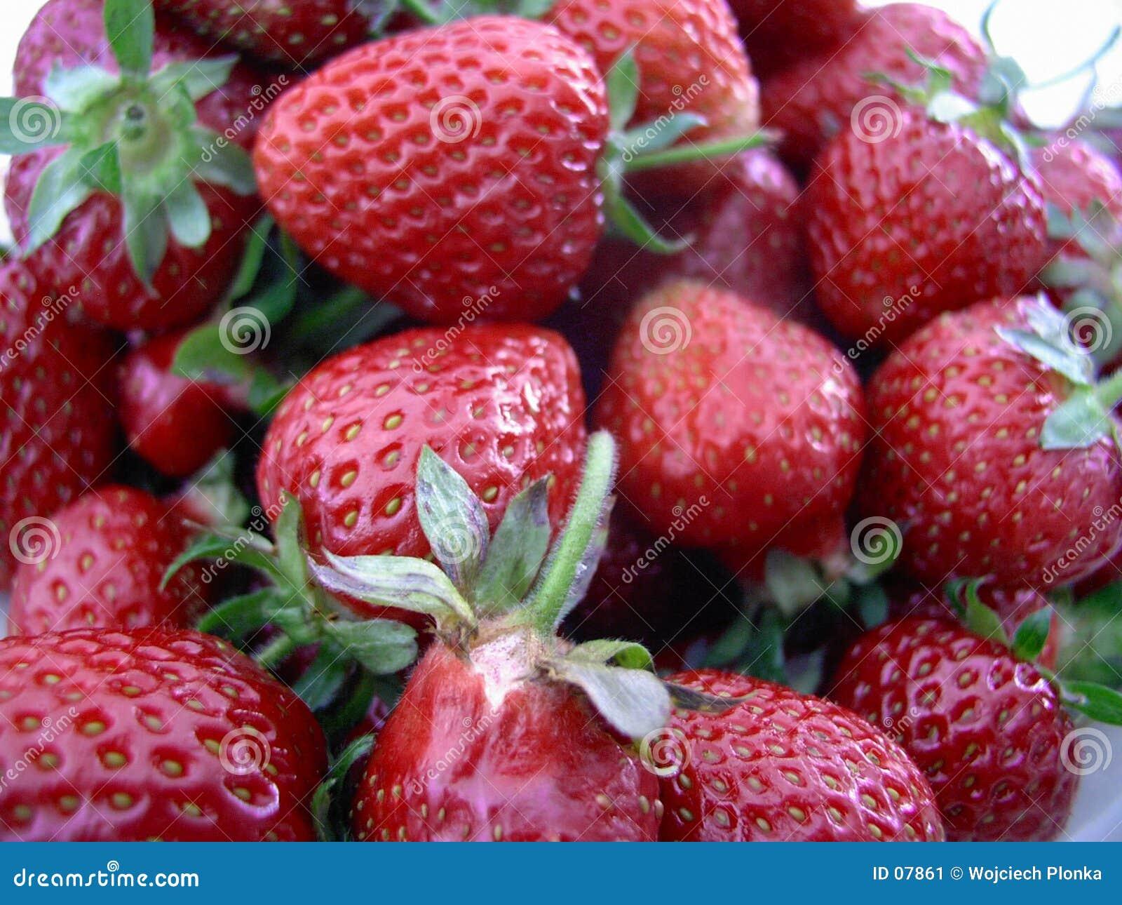 De achtergrond van aardbeien