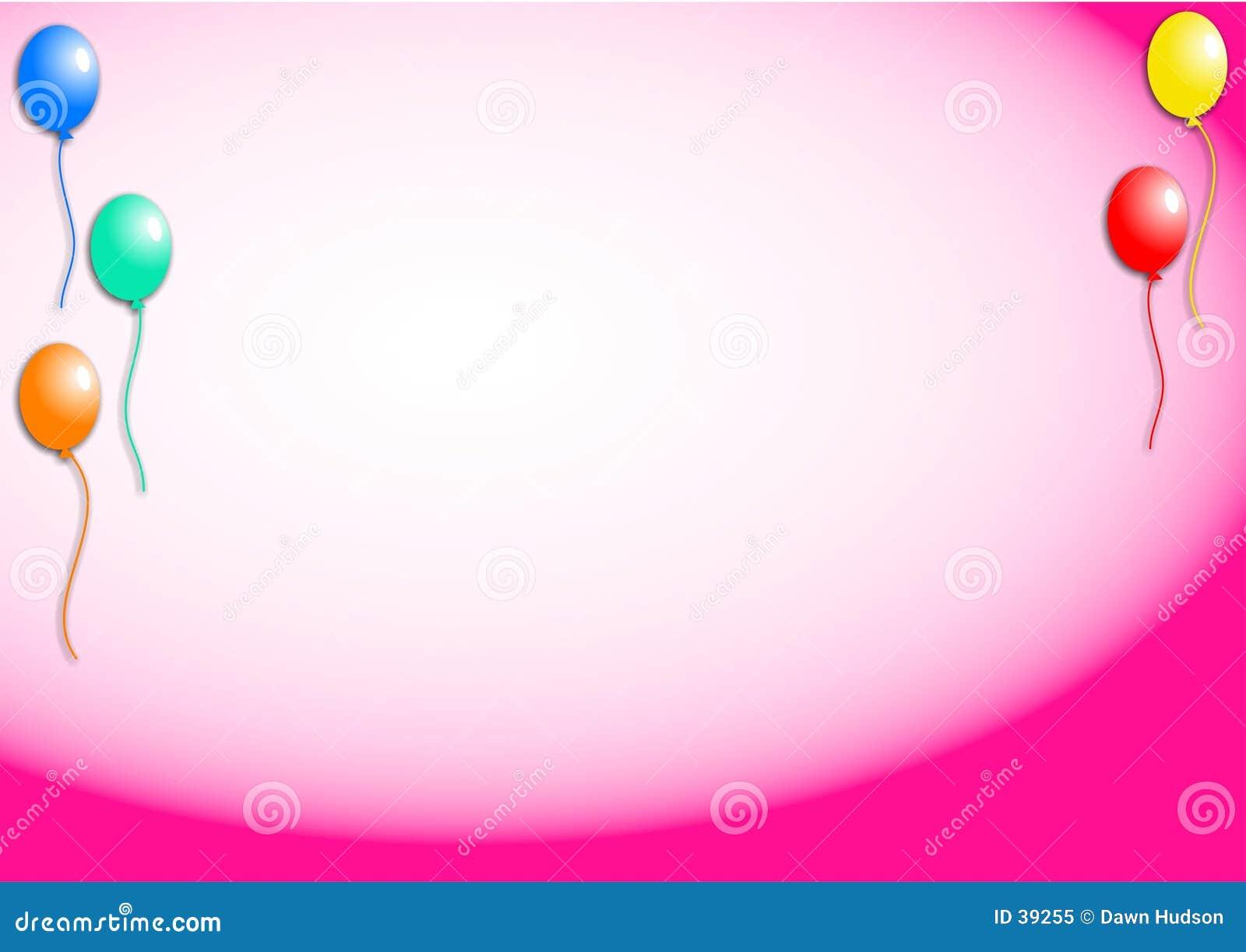 De Achtergrond van ballons