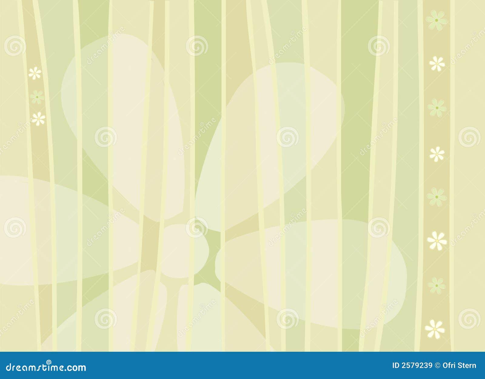 De Achtergrond van bloemen en van Strepen