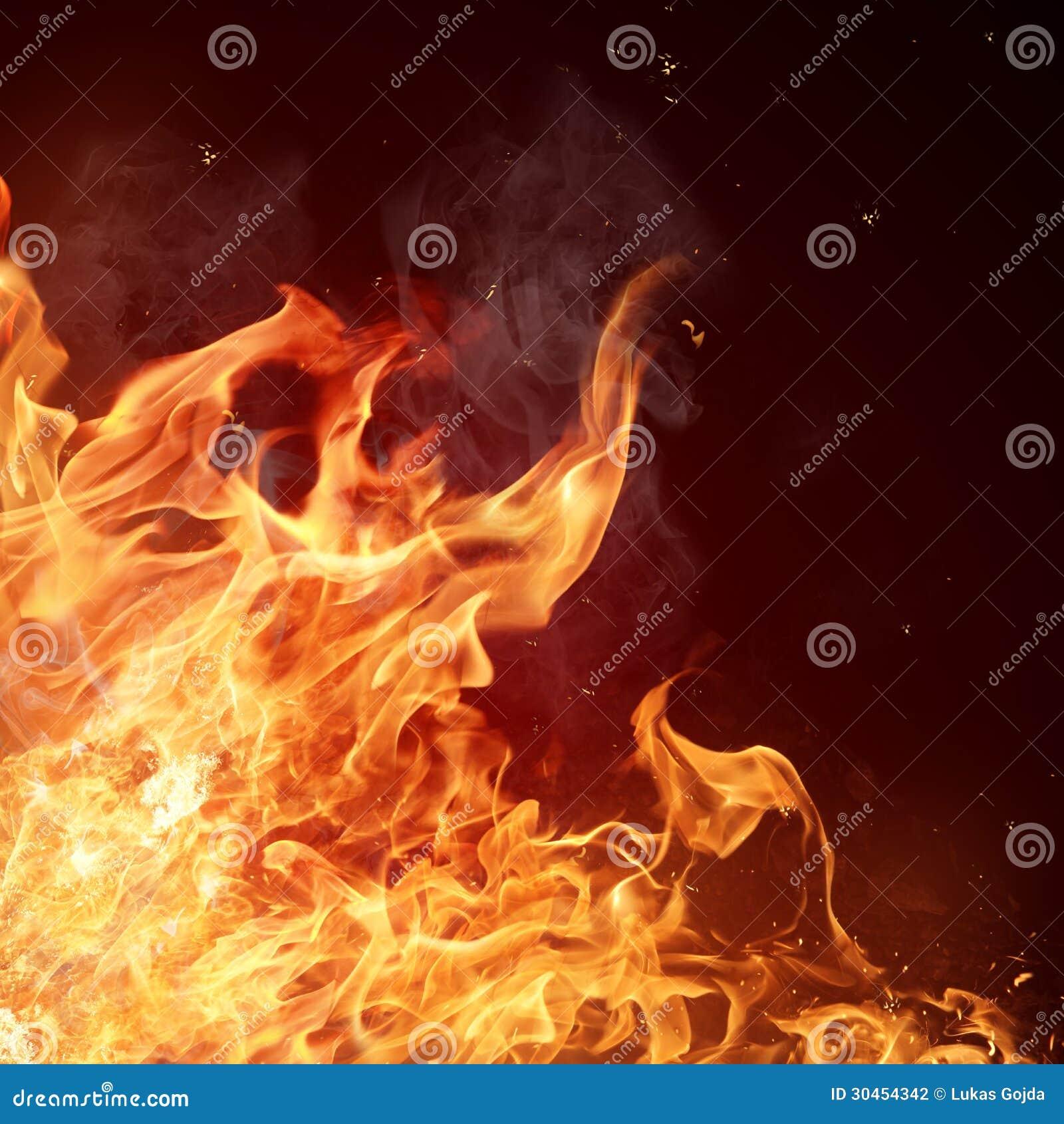 De achtergrond van brandvlammen