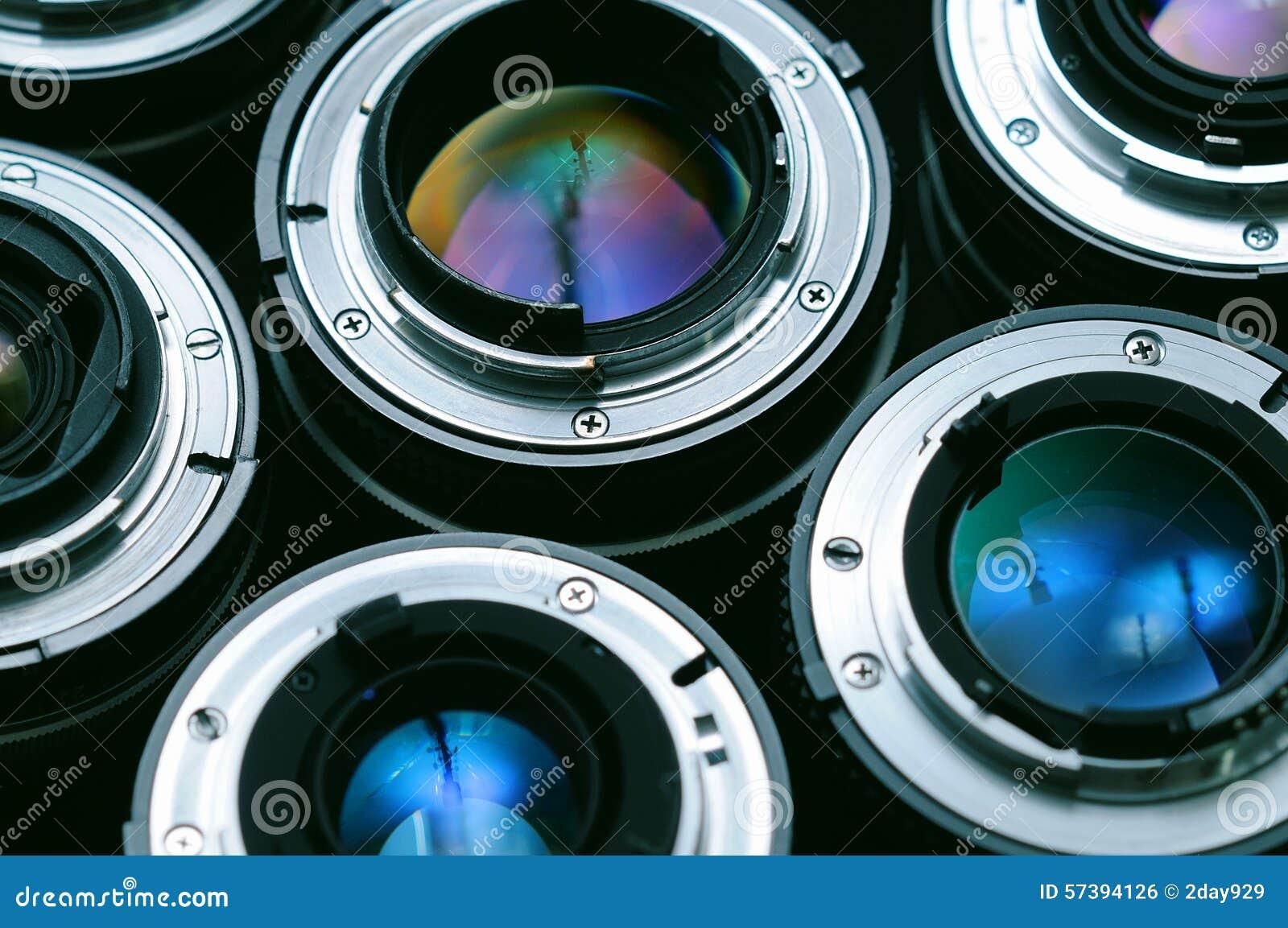 De achtergrond van cameralenzen