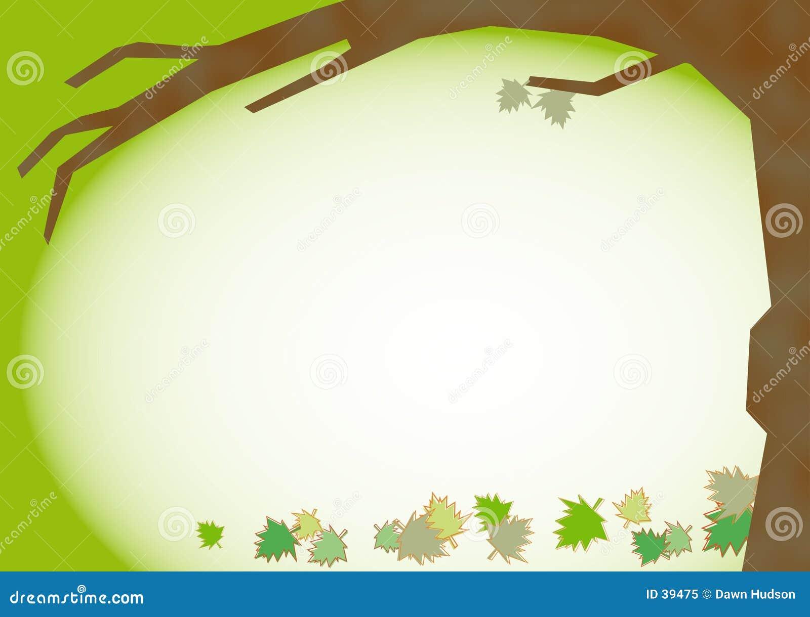De Achtergrond van de Bladeren van de daling