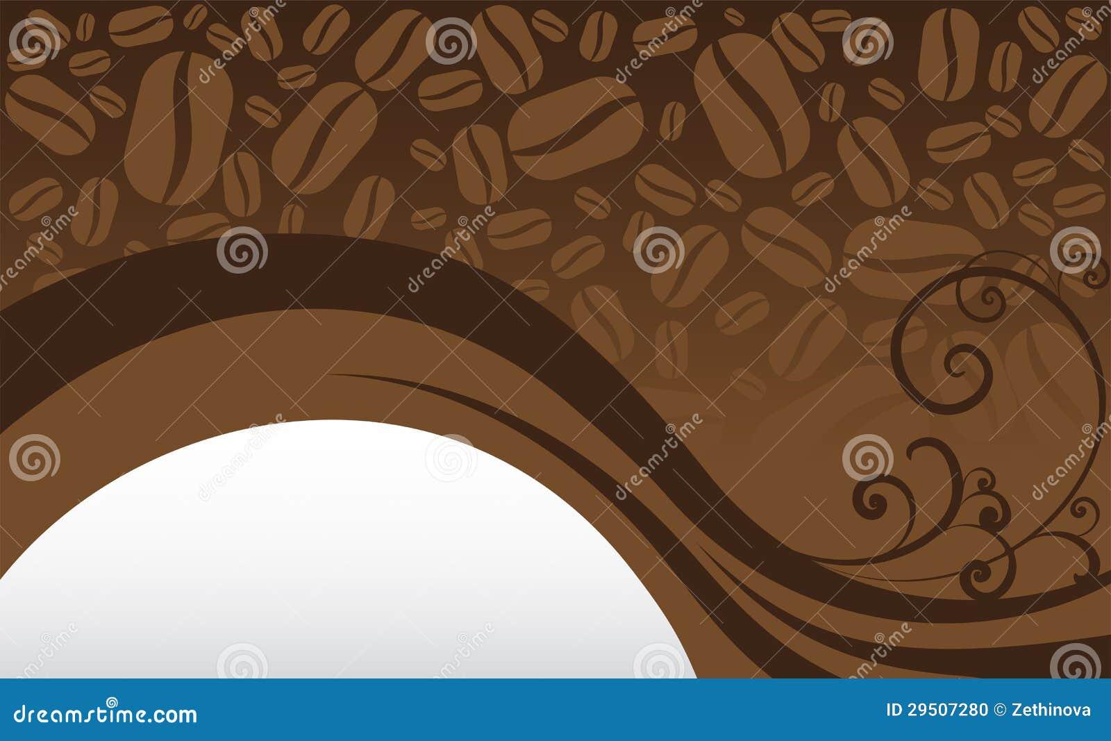 De Achtergrond van de Boon van de koffie