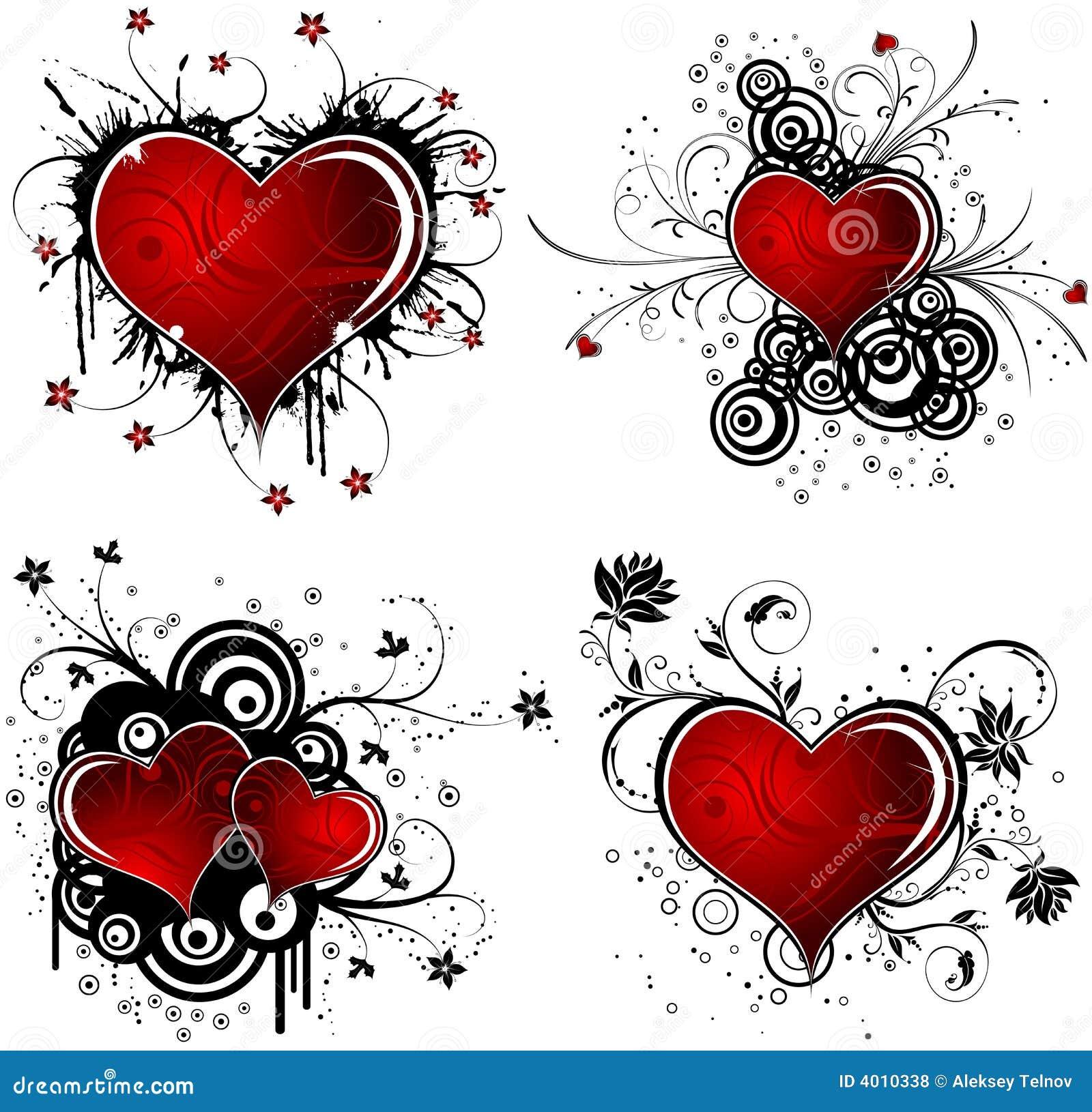 De achtergrond van de Dag van valentijnskaarten met harten en bloem