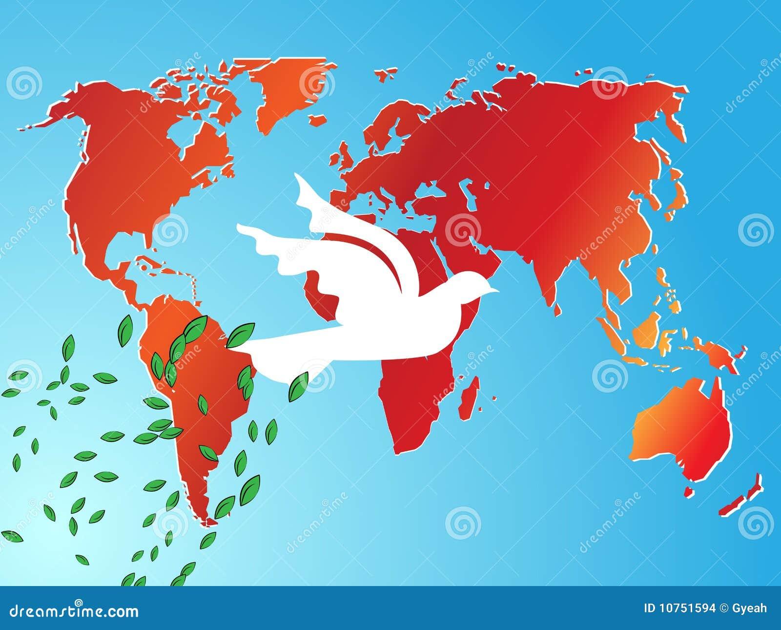 De achtergrond van de de vredesduif van de wereld stock afbeeldingen afbeelding 10751594 - Basket thuis van de wereld ...