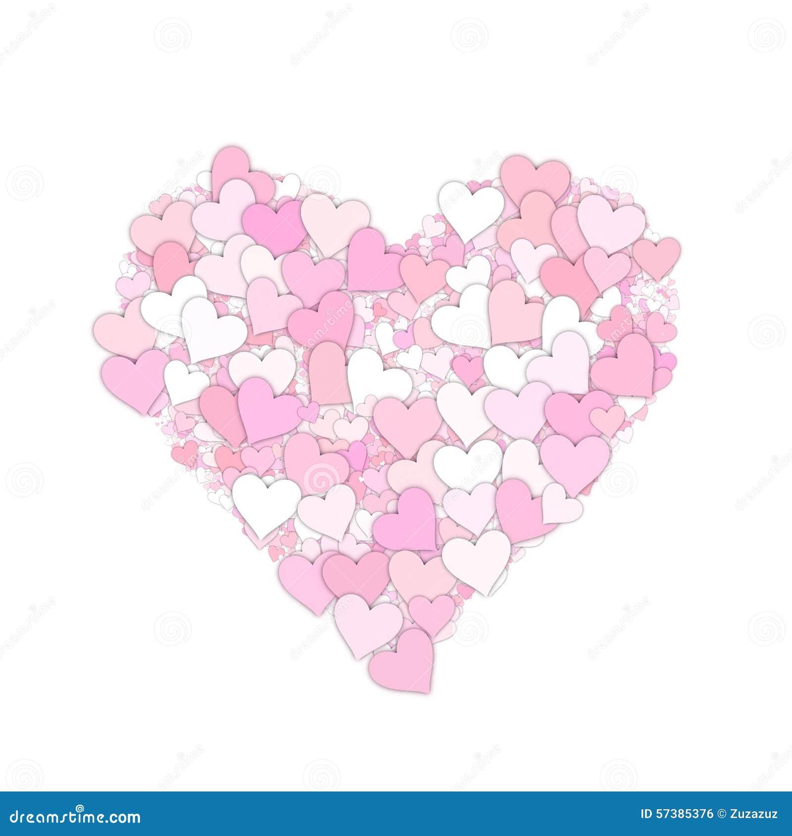 De achtergrond van de hartvalentijnskaart
