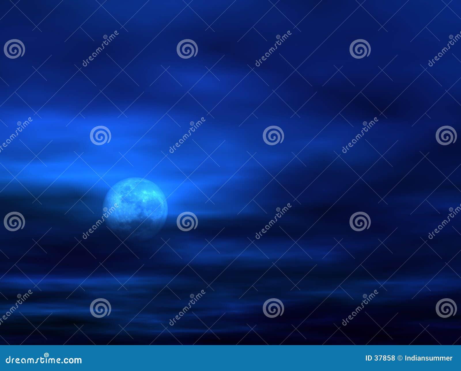 De achtergrond van de hemel met Maan [3]