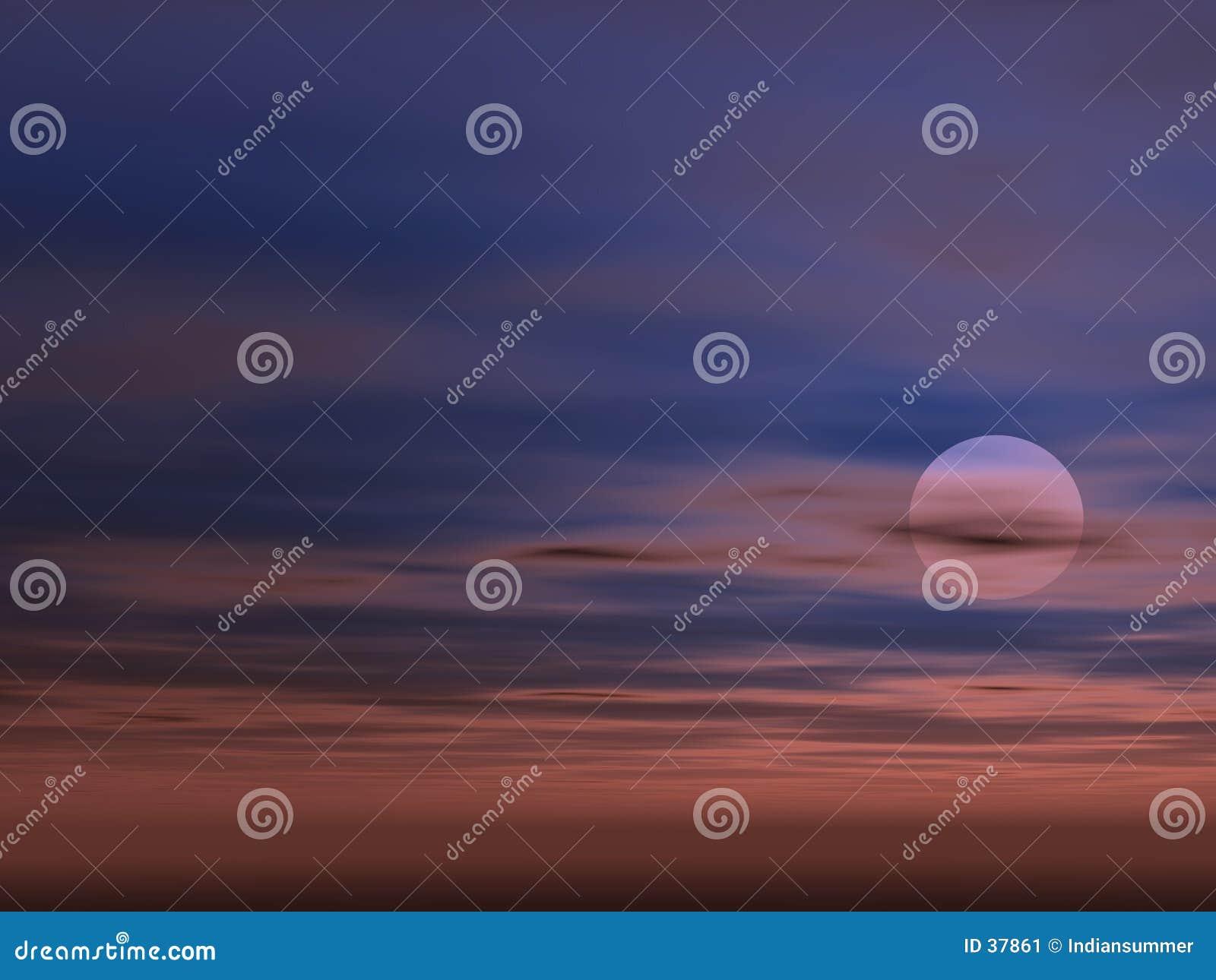 De achtergrond van de hemel met Zon