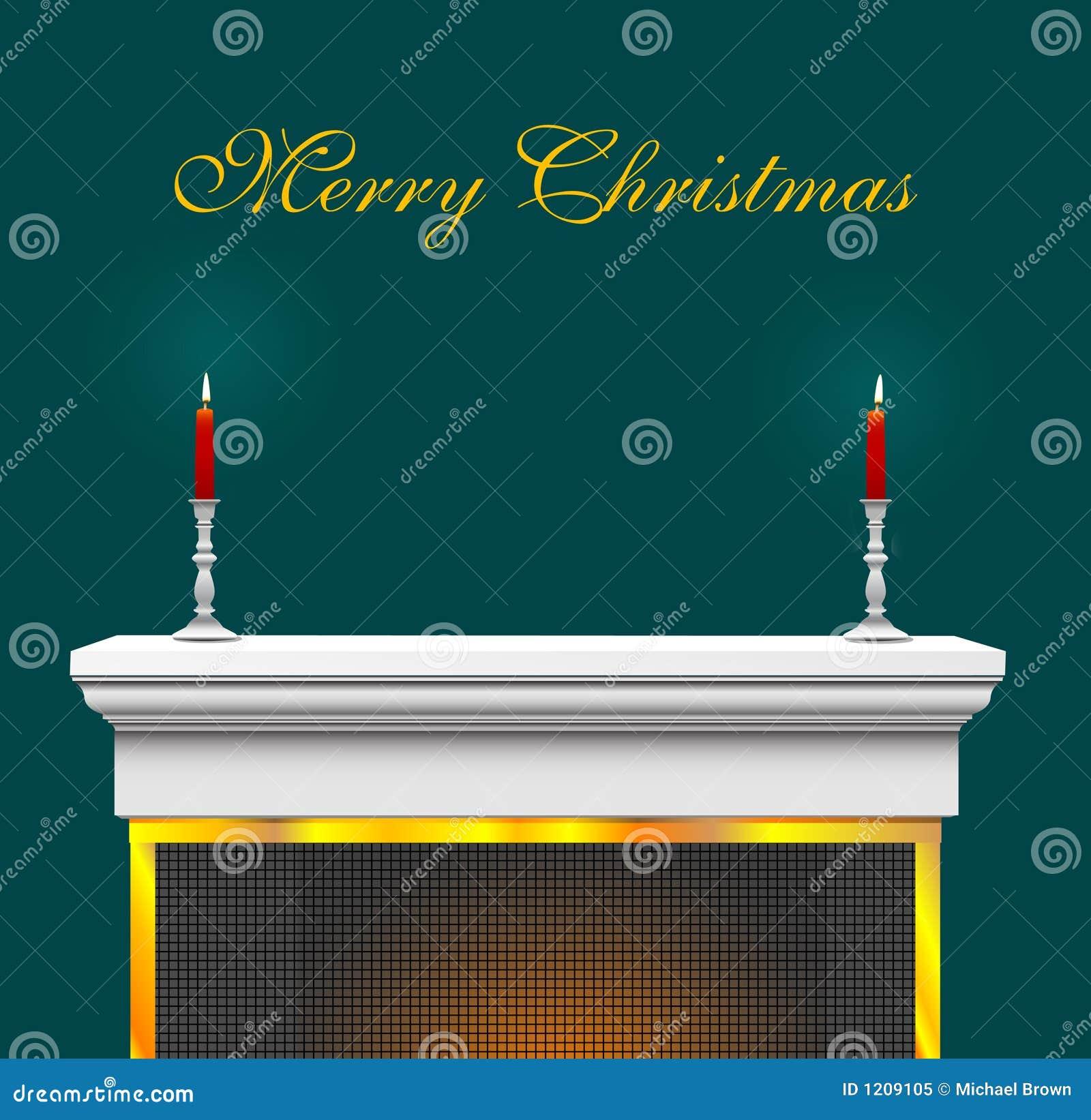 De achtergrond van de mantel van de open haard van kerstmis vector illustratie afbeelding 1209105 for Huis open haard mantel