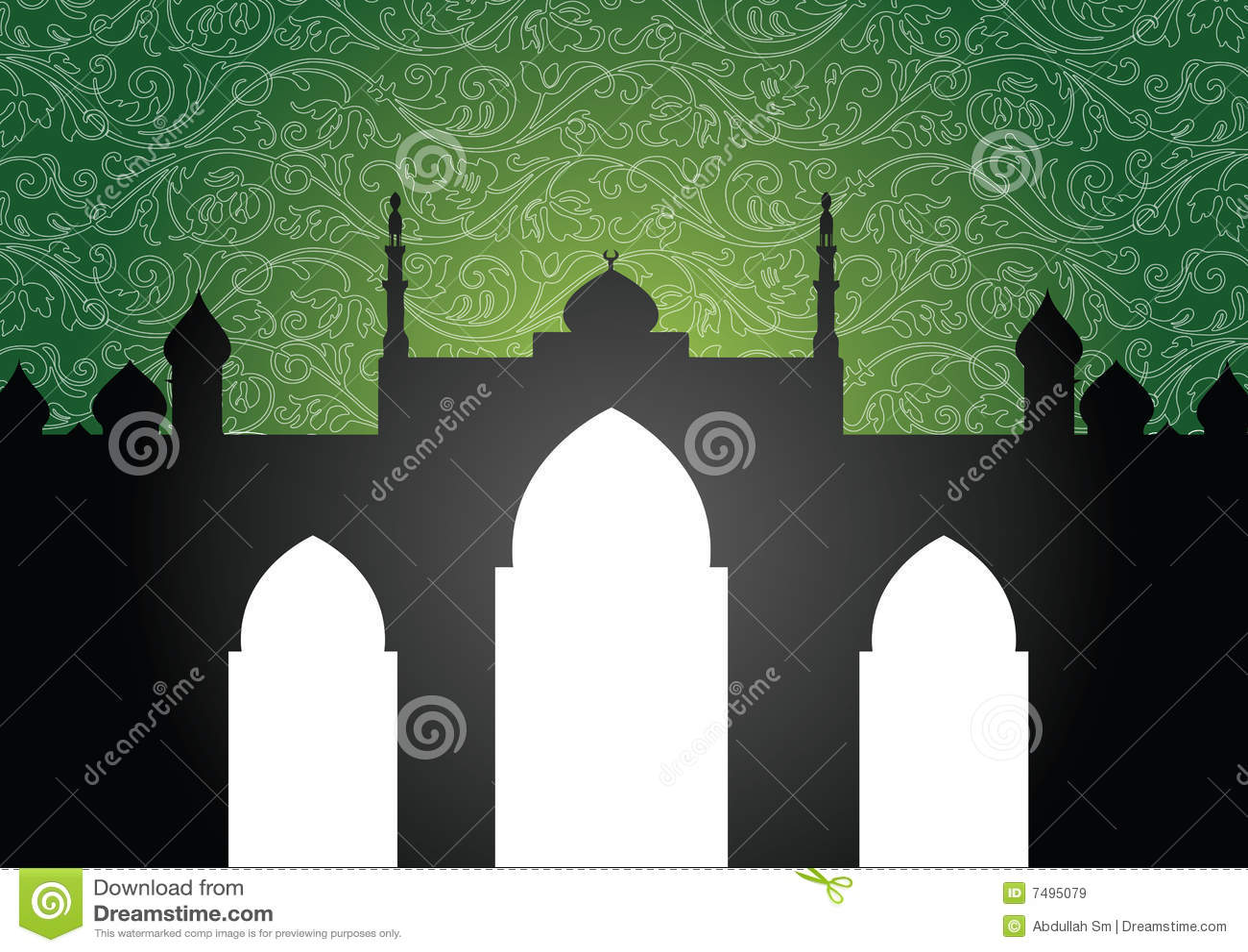 De achtergrond van de moskee