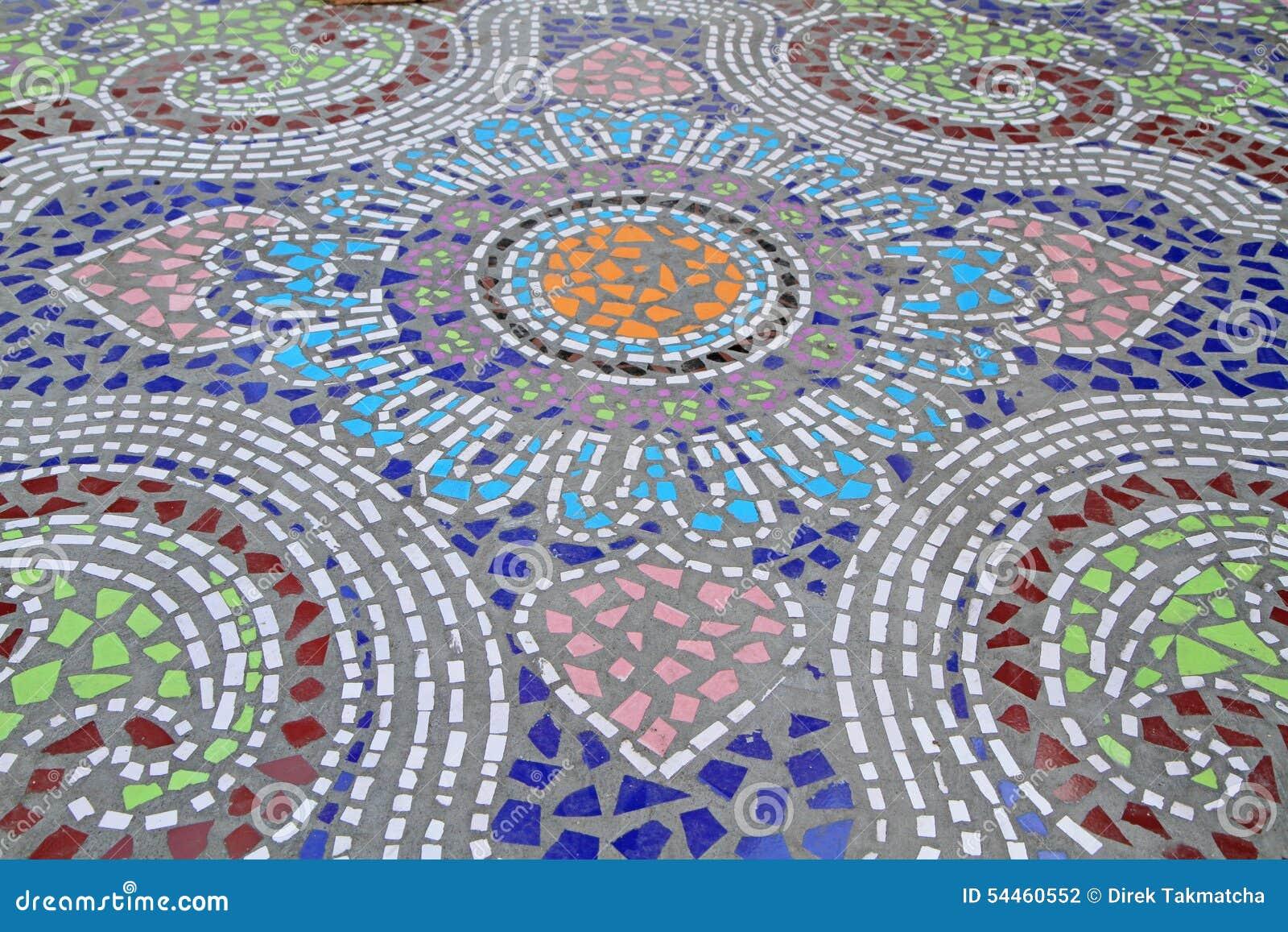 De achtergrond van de moza ek betegelde vloer stock foto afbeelding 54460552 - Moderne betegelde vloer ...