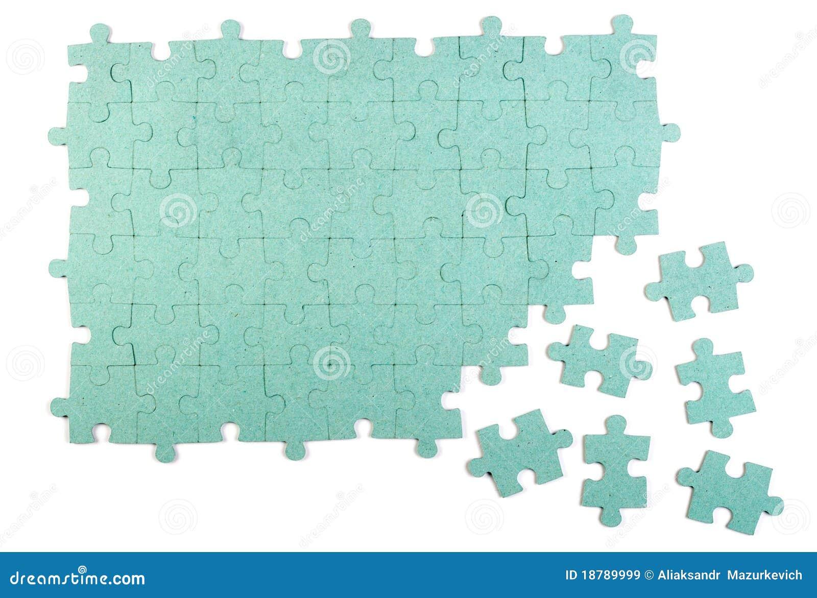 De achtergrond van de puzzel