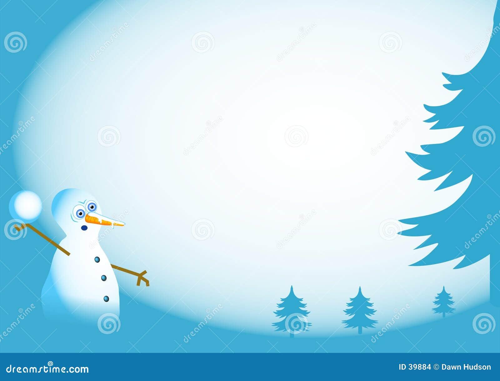 De Achtergrond van de sneeuwman