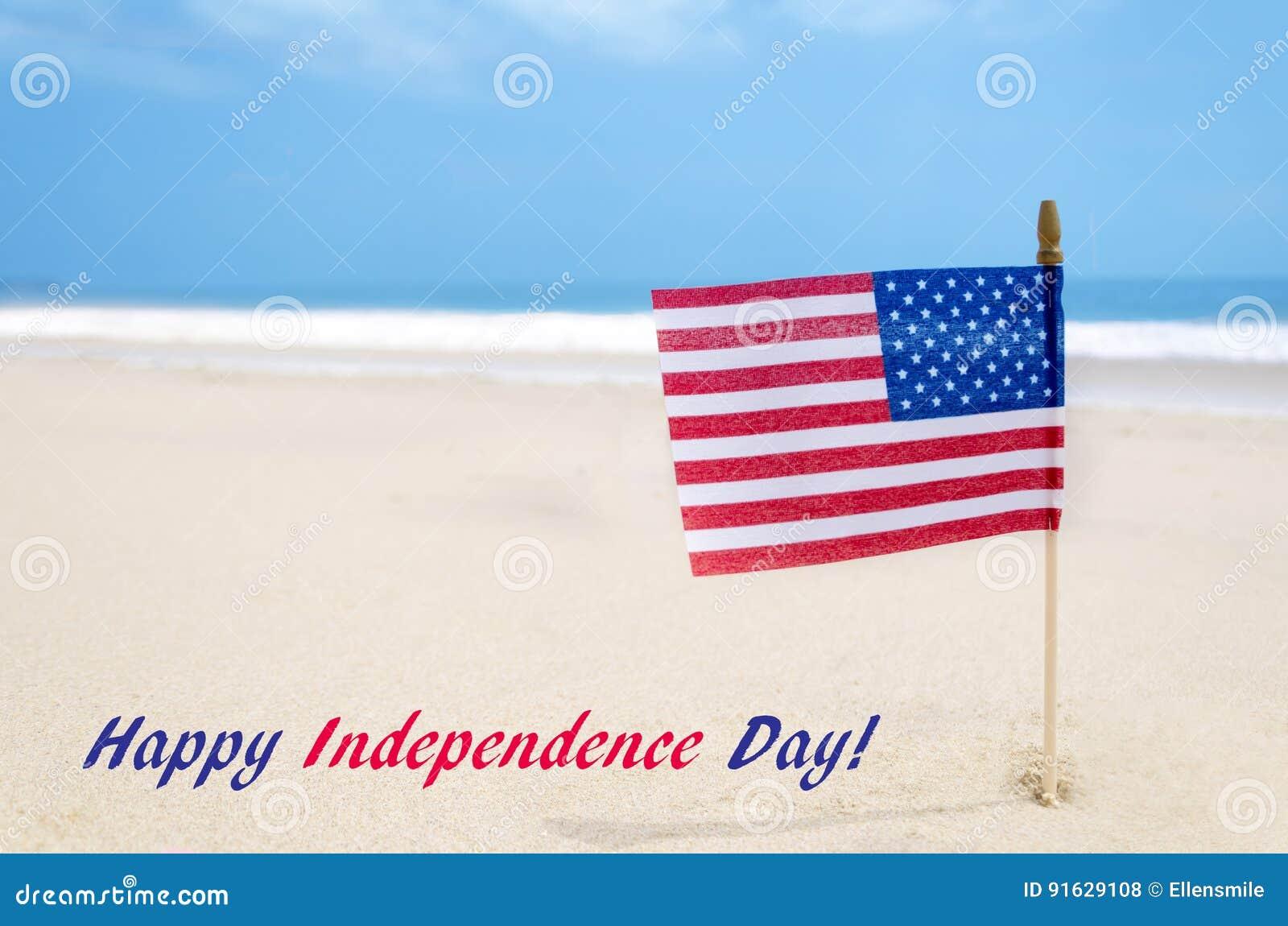 De achtergrond van de V.S. van de onafhankelijkheidsdag met Amerikaanse vlag