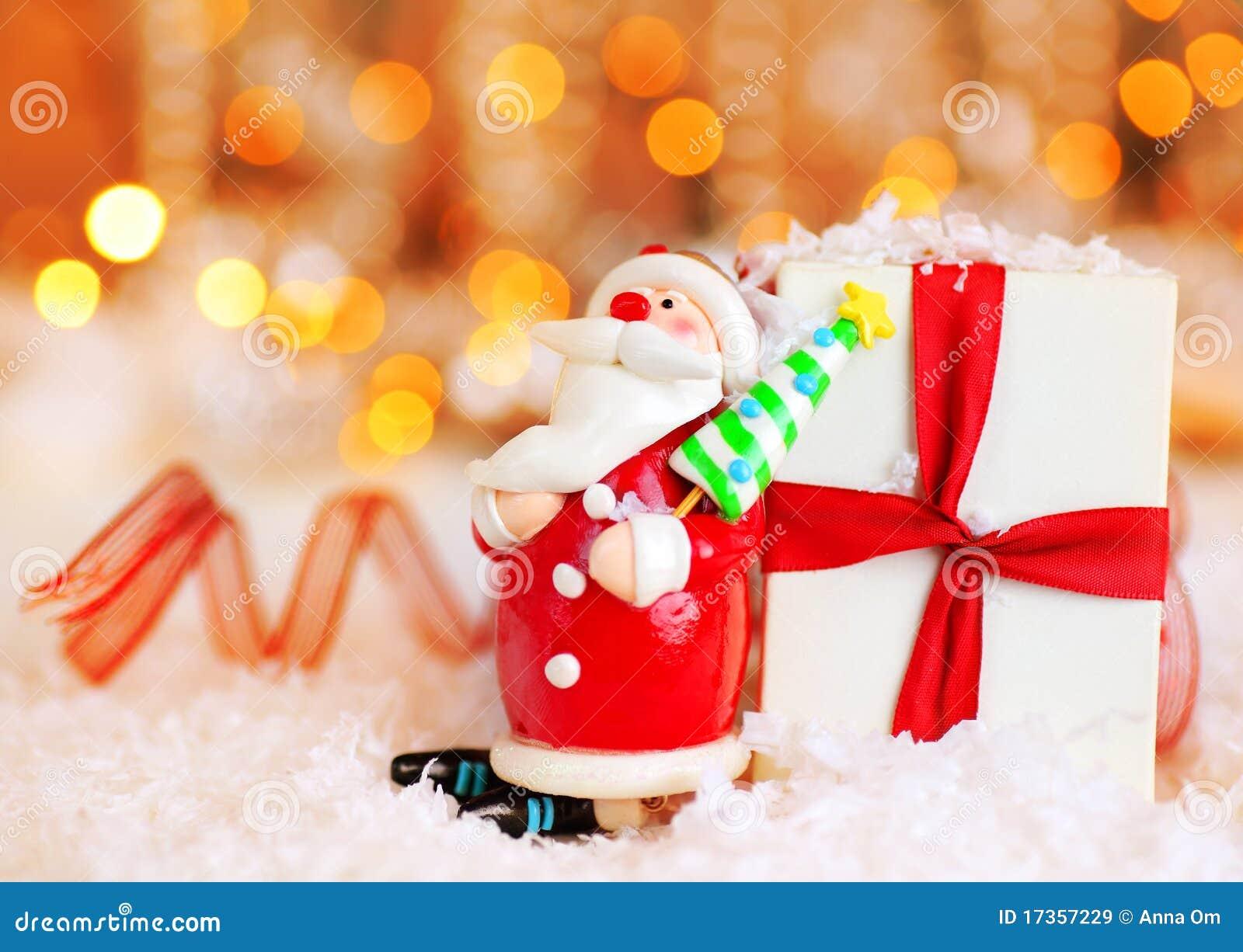 De achtergrond van de vakantie met de leuke decoratie van de kerstman stock afbeelding - Decoratie van de kamers van de meiden ...